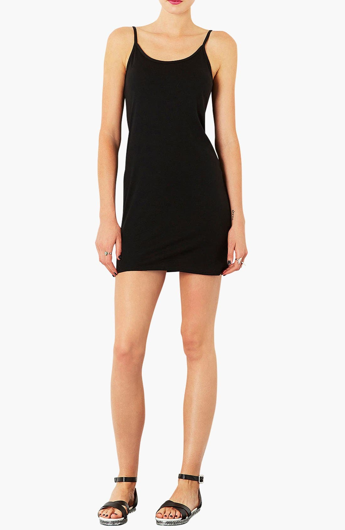 Main Image - Topshop Strappy Tank Dress