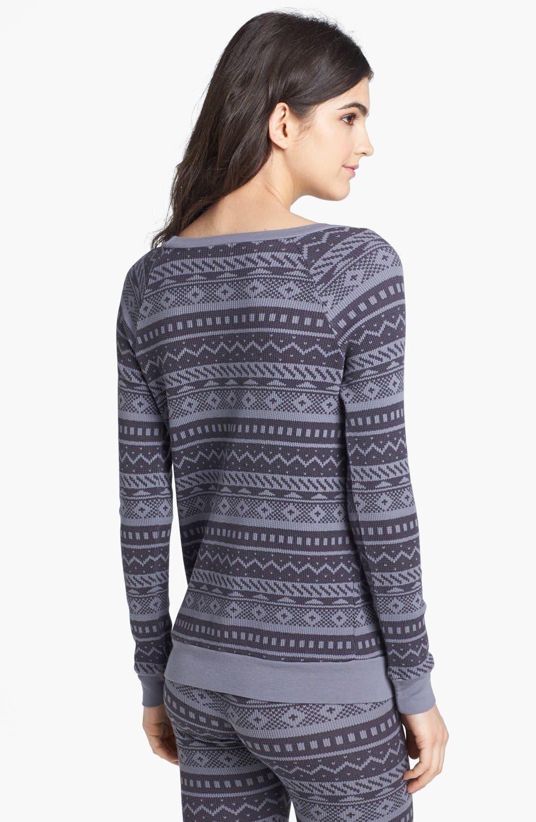 Alternate Image 2  - Splendid Fair Isle Thermal Sweatshirt