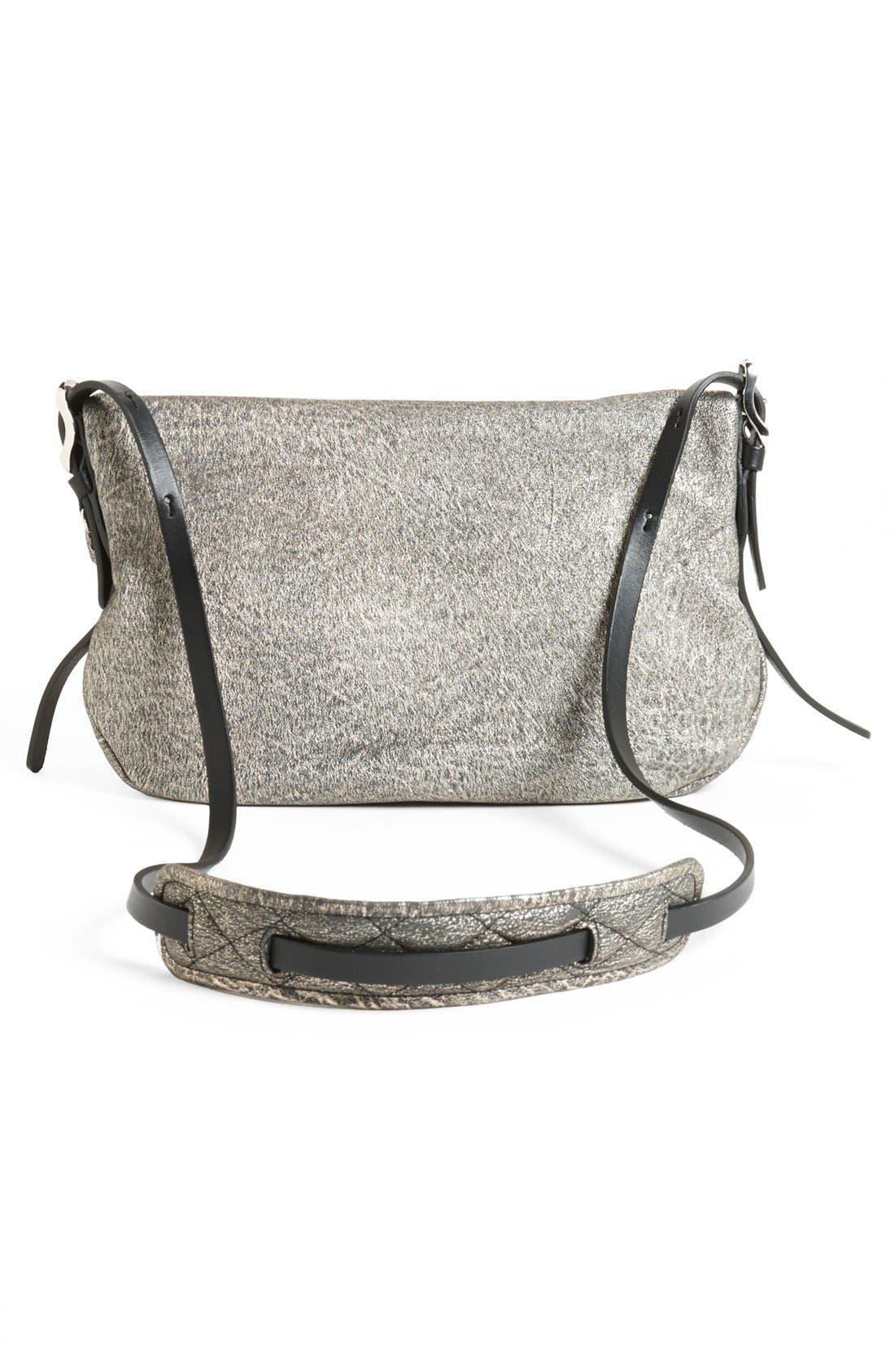 Alternate Image 4  - Jimmy Choo 'Biker - Small' Metallic Suede Crossbody Bag