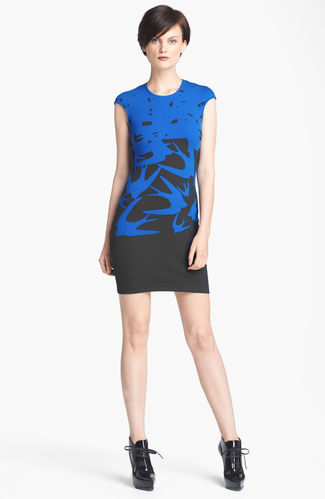 Main Image - McQ by Alexander McQueen Contrast Print Dress