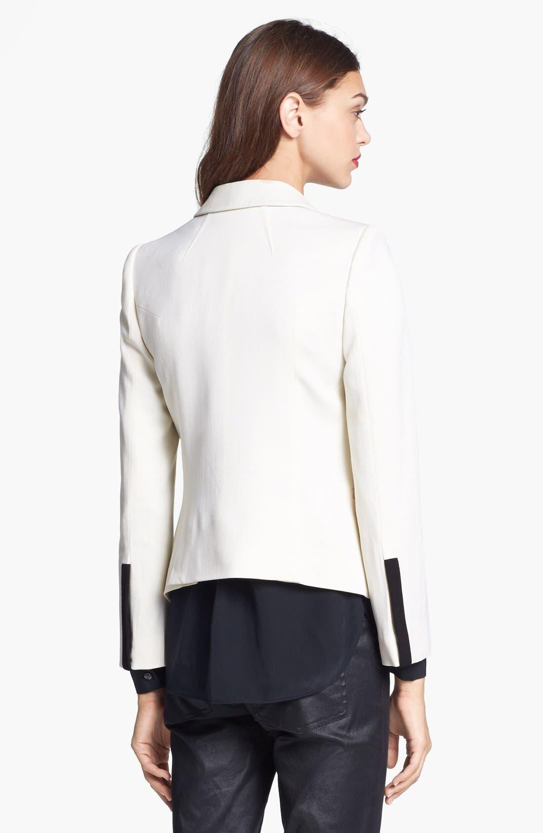 Alternate Image 2  - Rachel Zoe 'Foster' Peak Lapel Single Button Jacket