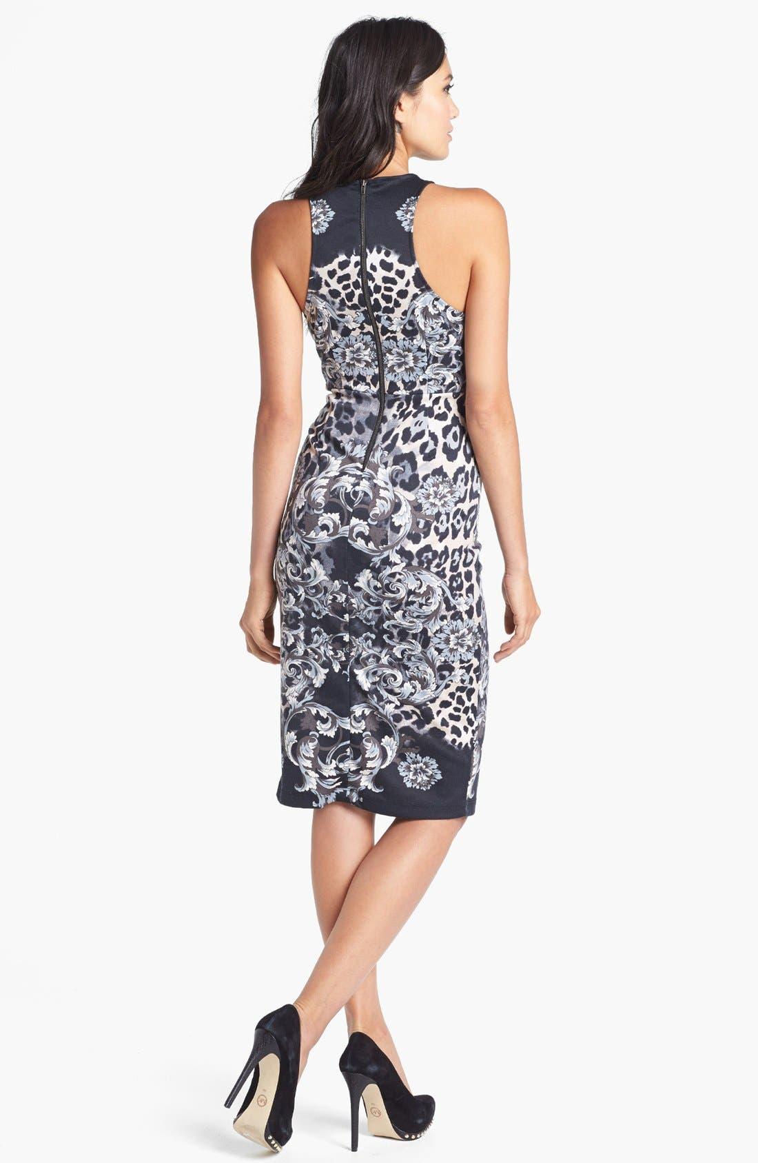 Alternate Image 2  - WAYF 'Baroque' Body-Con Midi Dress