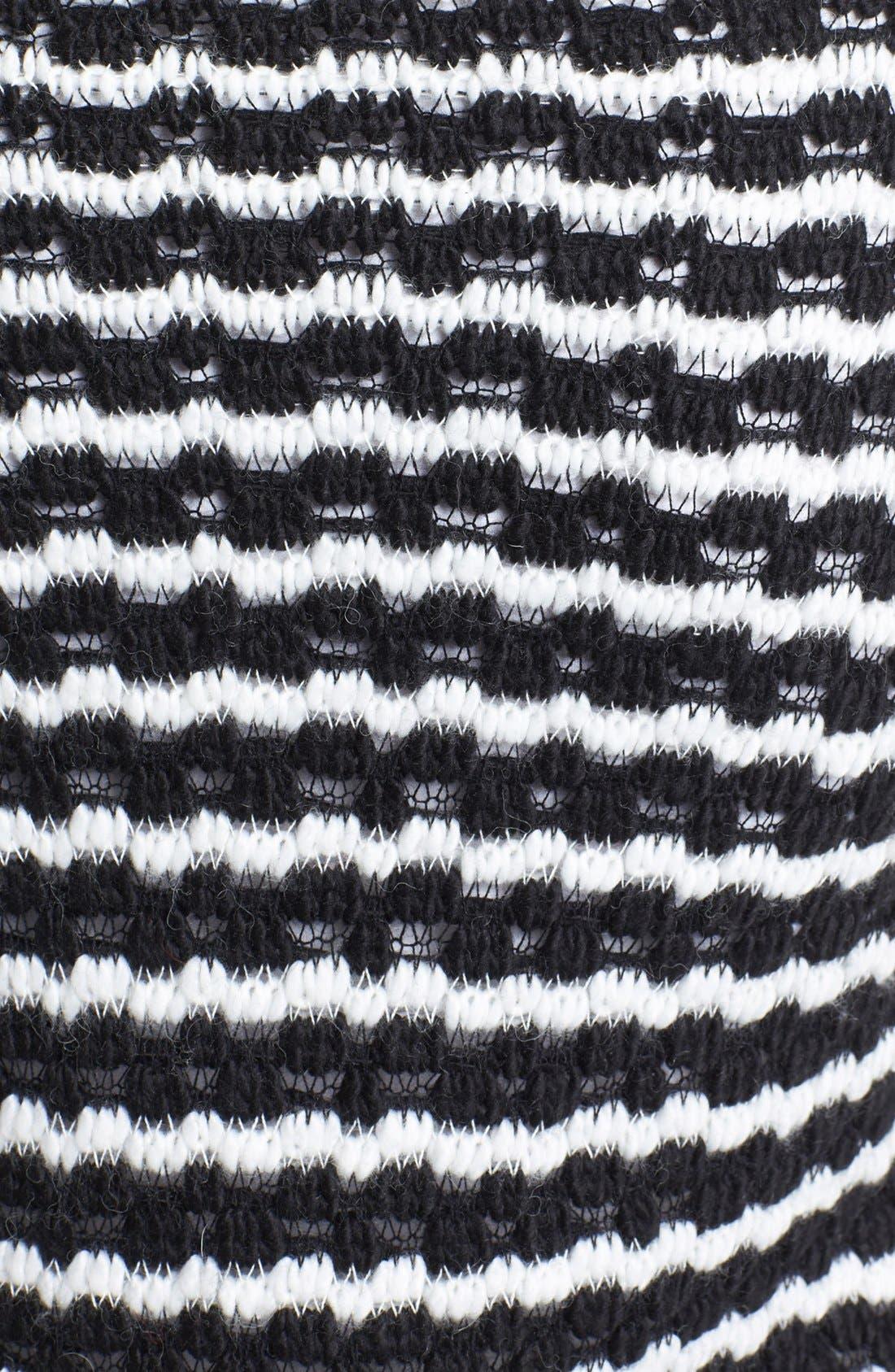 Alternate Image 3  - Two by Vince Camuto Bubble Stitch Stripe V-Neck Sweater