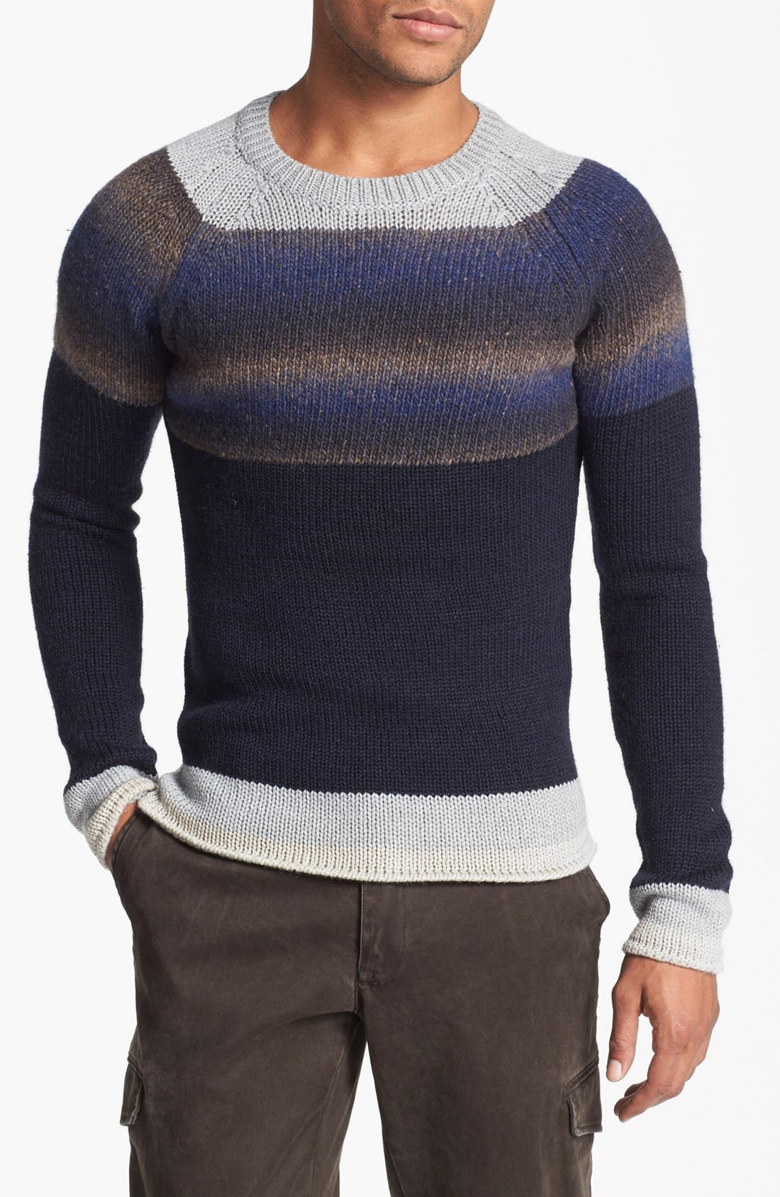 Alternate Image 1 Selected - Antony Morato Colorblock Crewneck Sweater