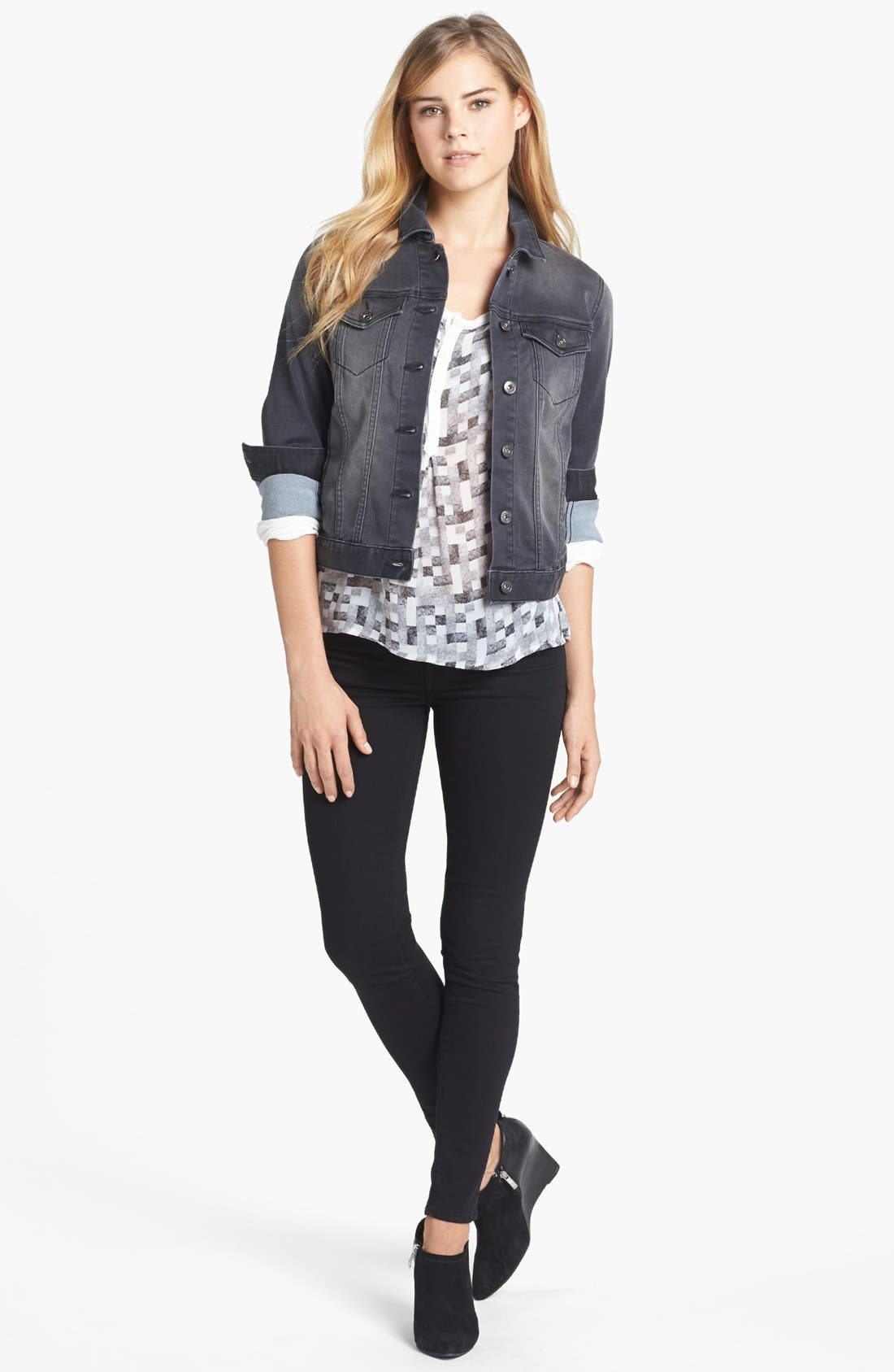 Alternate Image 4  - Two by Vince Camuto 'Stone' Jean Jacket