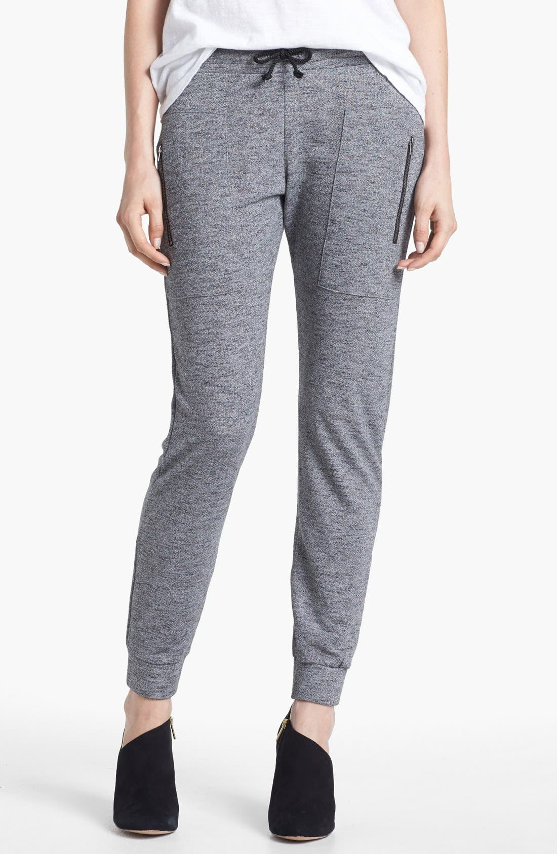 Alternate Image 1 Selected - Go Make Noise Zip Detail Sweatpants