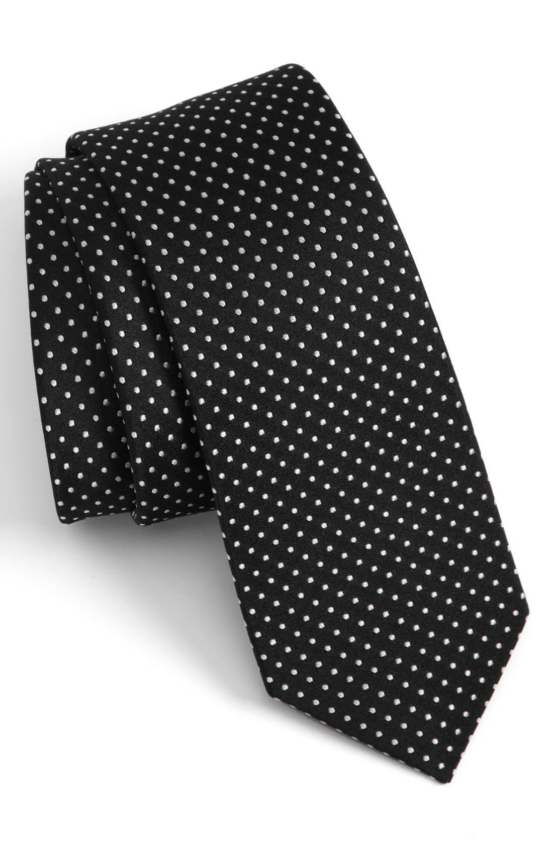 Main Image - The Tie Bar Woven Silk Tie (Online Only)