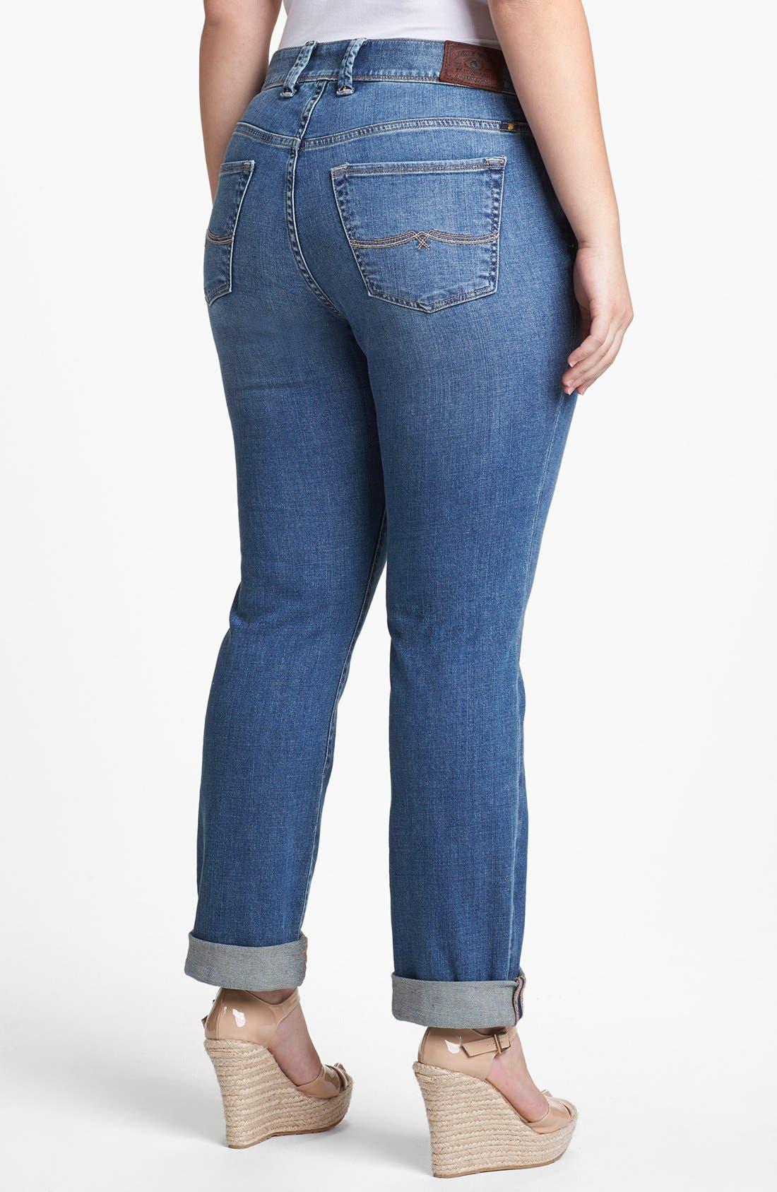 Alternate Image 2  - Lucky Brand 'Ginger' Straight Leg Jeans (Plus Size)