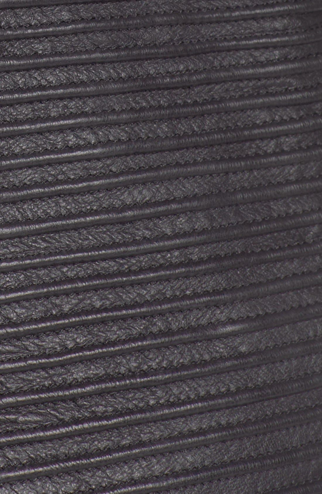 Alternate Image 3  - Trouvé Power Shoulder Leather Jacket