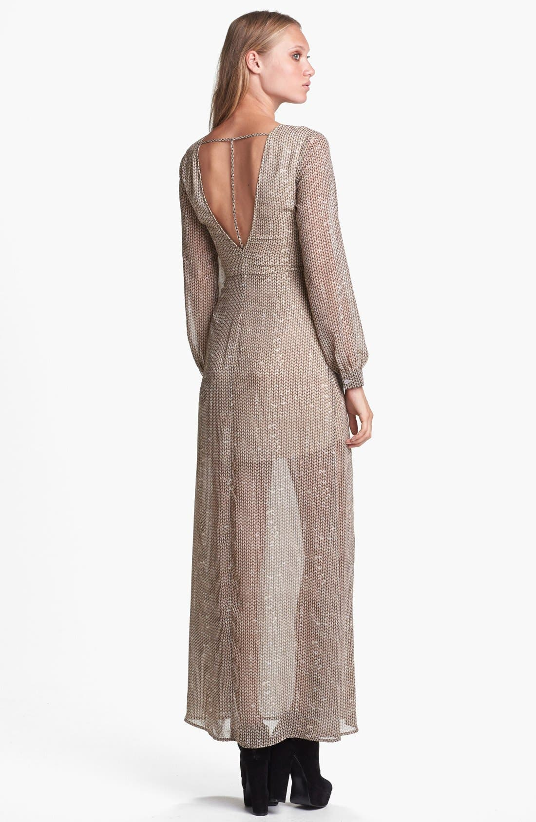 Alternate Image 2  - ASTR Open Back Sheer Maxi Dress