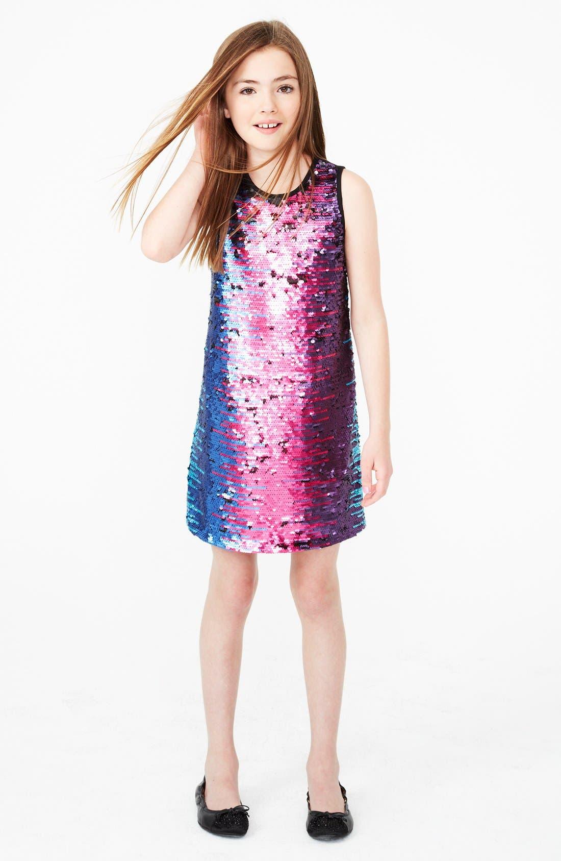 Alternate Image 3  - Pippa & Julie Flip Sequin Dress (Big Girls)