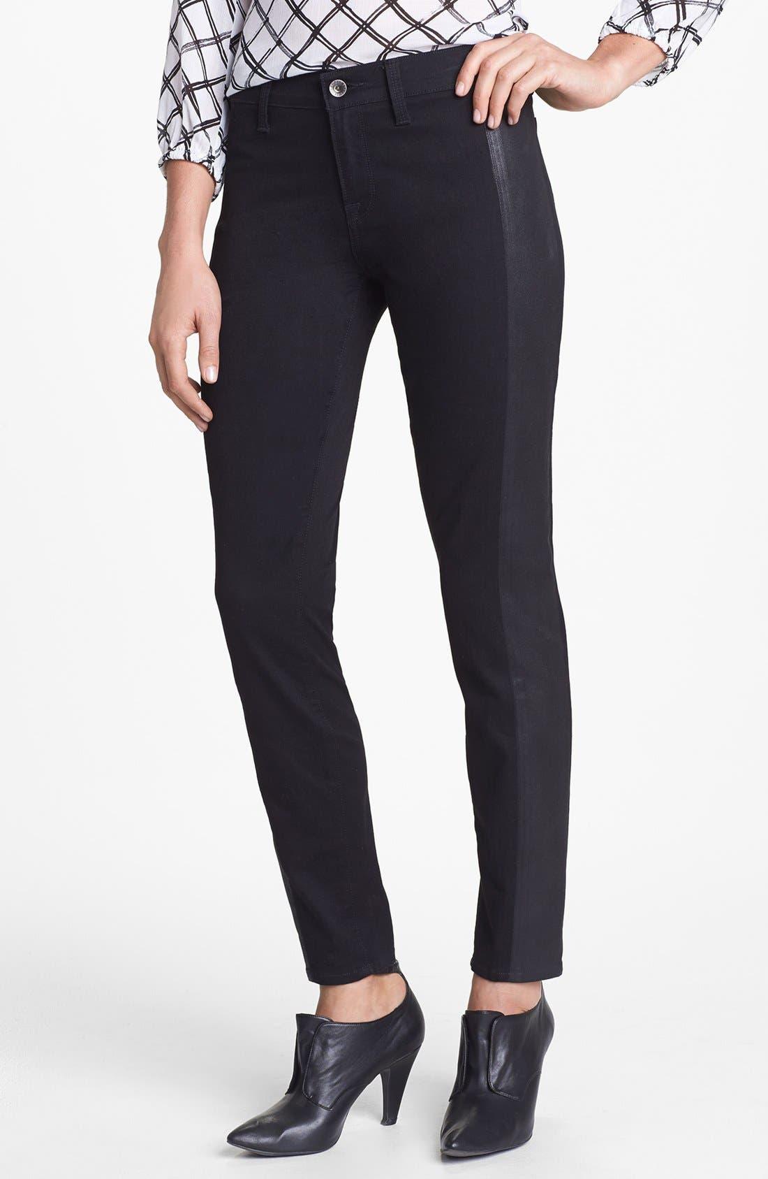 Alternate Image 1 Selected - Lucky Brand 'Sofia' Tuxedo Detail Skinny Jeans (Jededia)