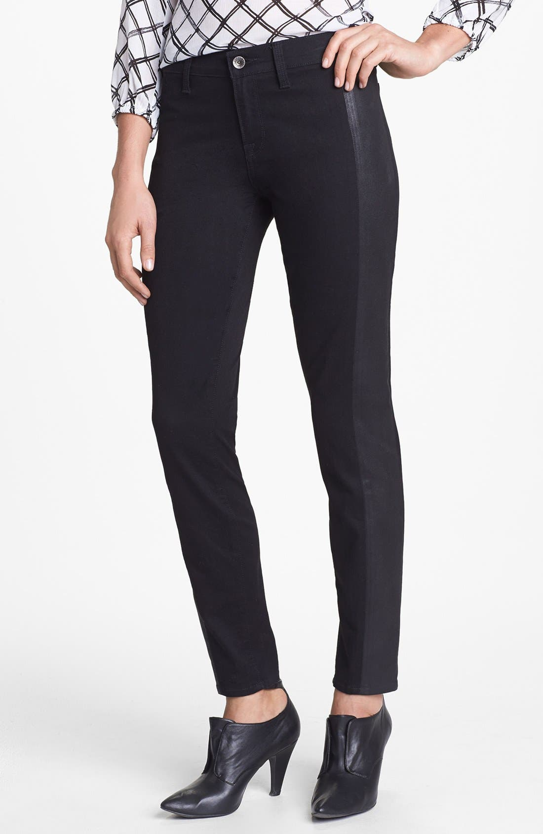 Main Image - Lucky Brand 'Sofia' Tuxedo Detail Skinny Jeans (Jededia)