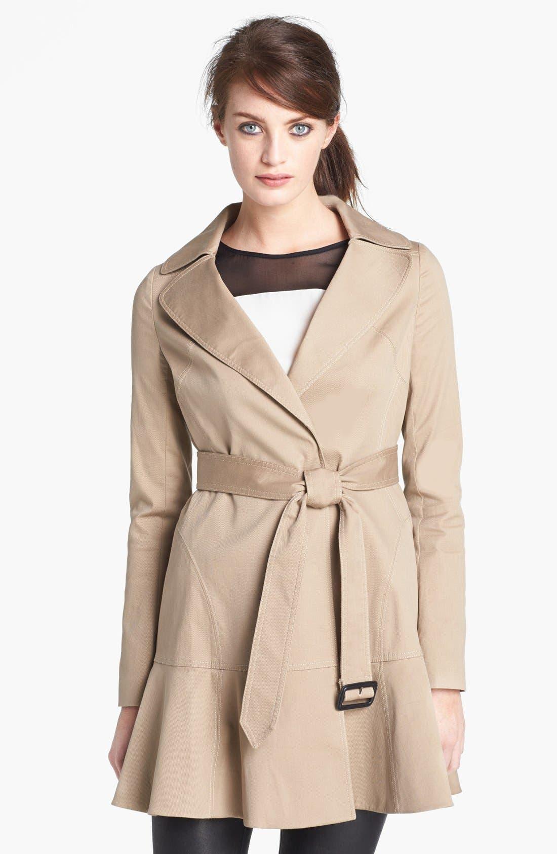 Alternate Image 1 Selected - Diane von Furstenberg 'Kadence' Cotton Blend Trench Coat