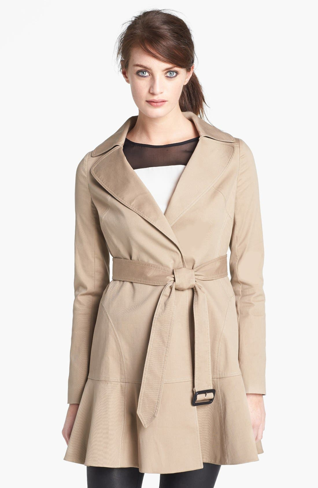 Main Image - Diane von Furstenberg 'Kadence' Cotton Blend Trench Coat