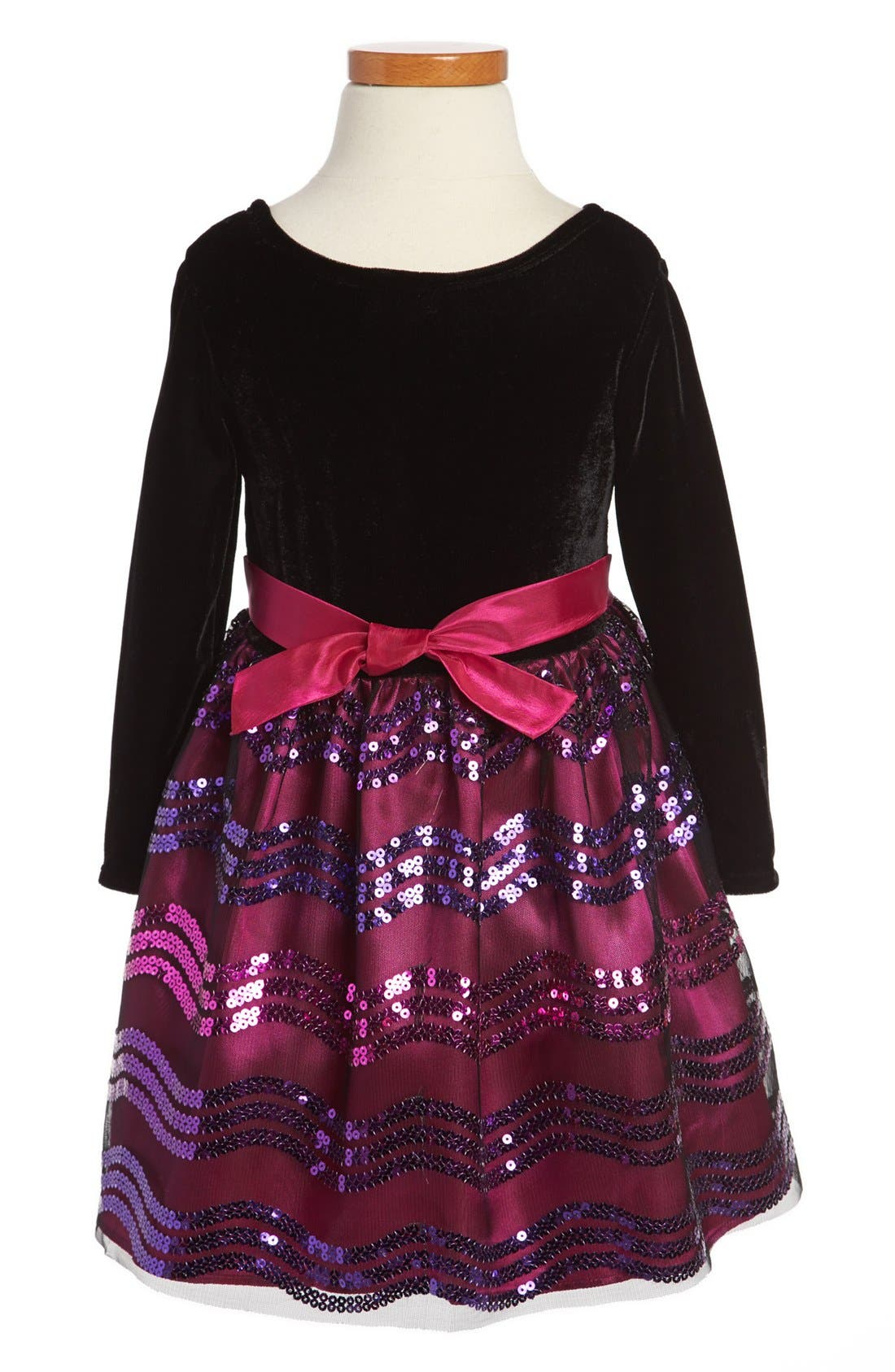 Alternate Image 2  - Iris & Ivy Sequin Skirt Dress (Toddler Girls)