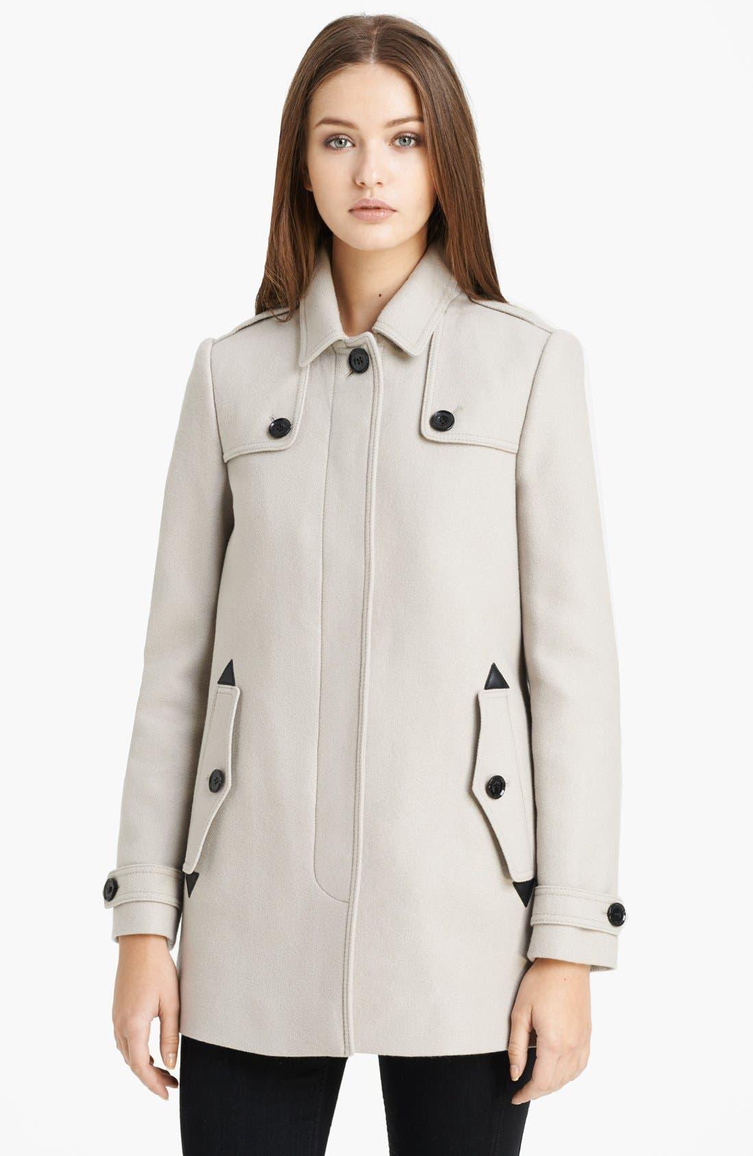 Alternate Image 1 Selected - Burberry Brit 'Charlestead' Wool Blend Coat