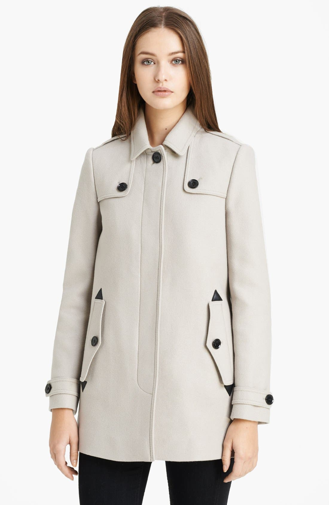 Main Image - Burberry Brit 'Charlestead' Wool Blend Coat