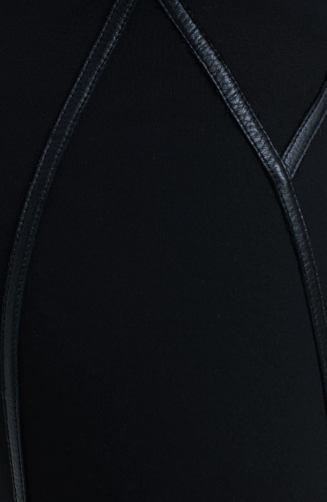 Alternate Image 3  - Donna Karan Collection Leather Trim Structured Jersey Skirt