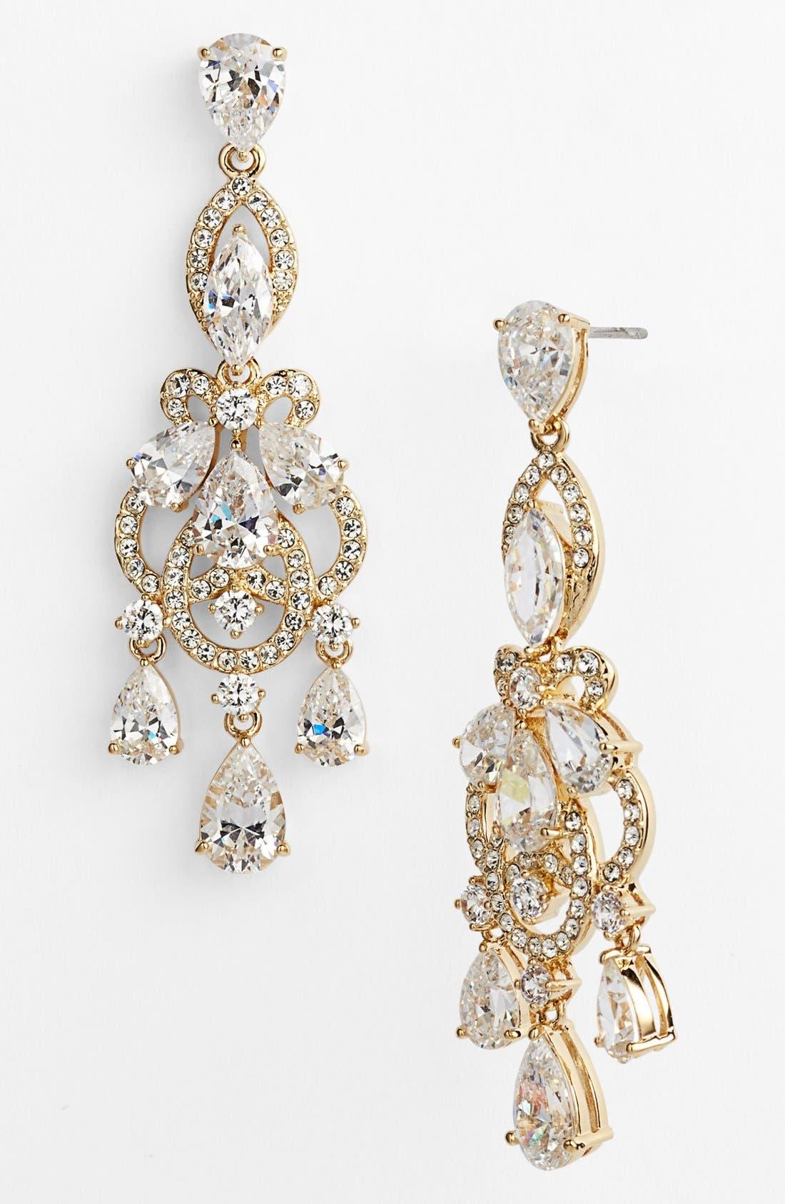 Alternate Image 1 Selected - Nadri 'Legacy' Crystal Chandelier Earrings