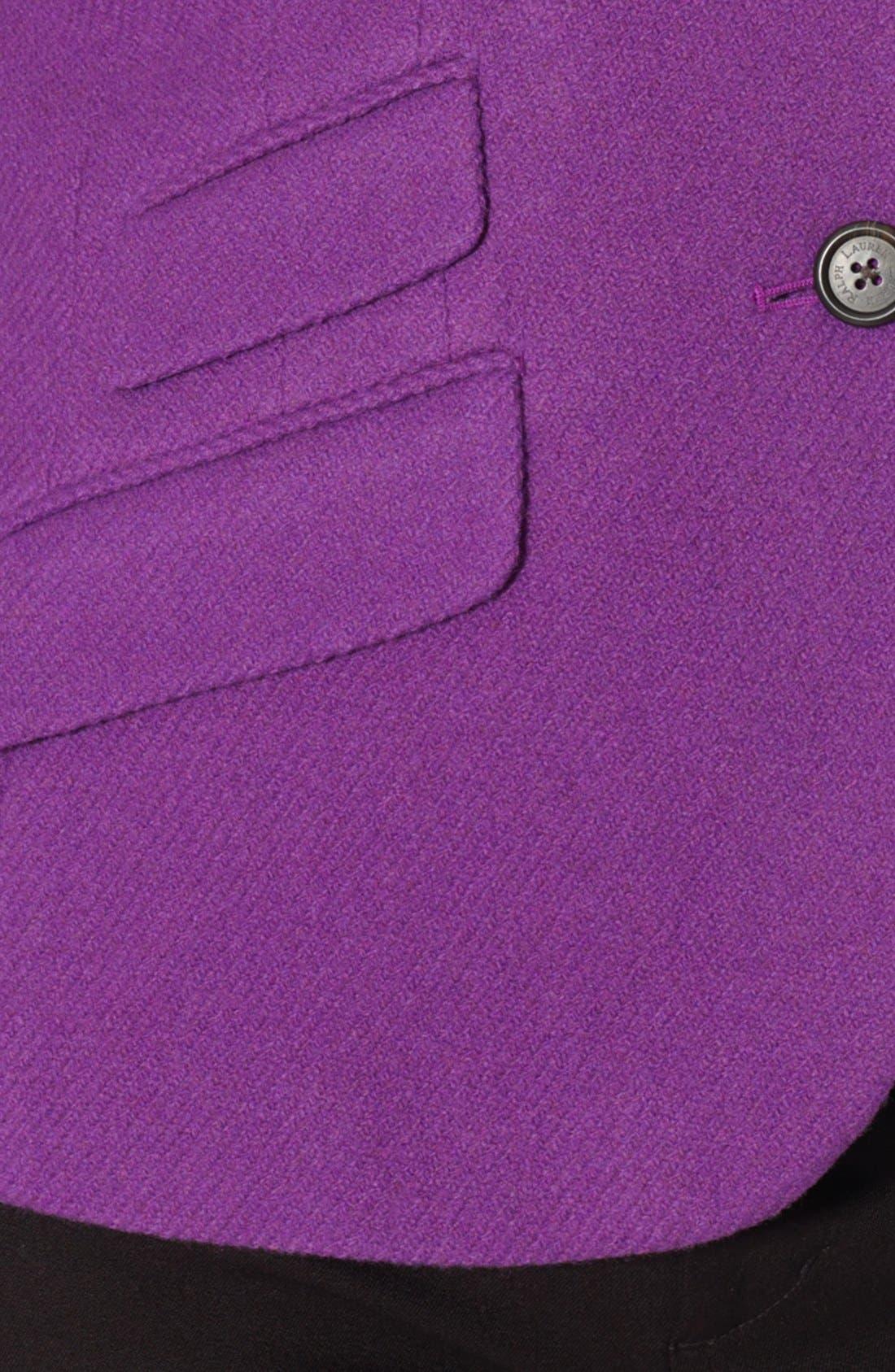 Alternate Image 3  - Lauren Ralph Lauren Wool Blend Hacking Jacket (Plus Size)