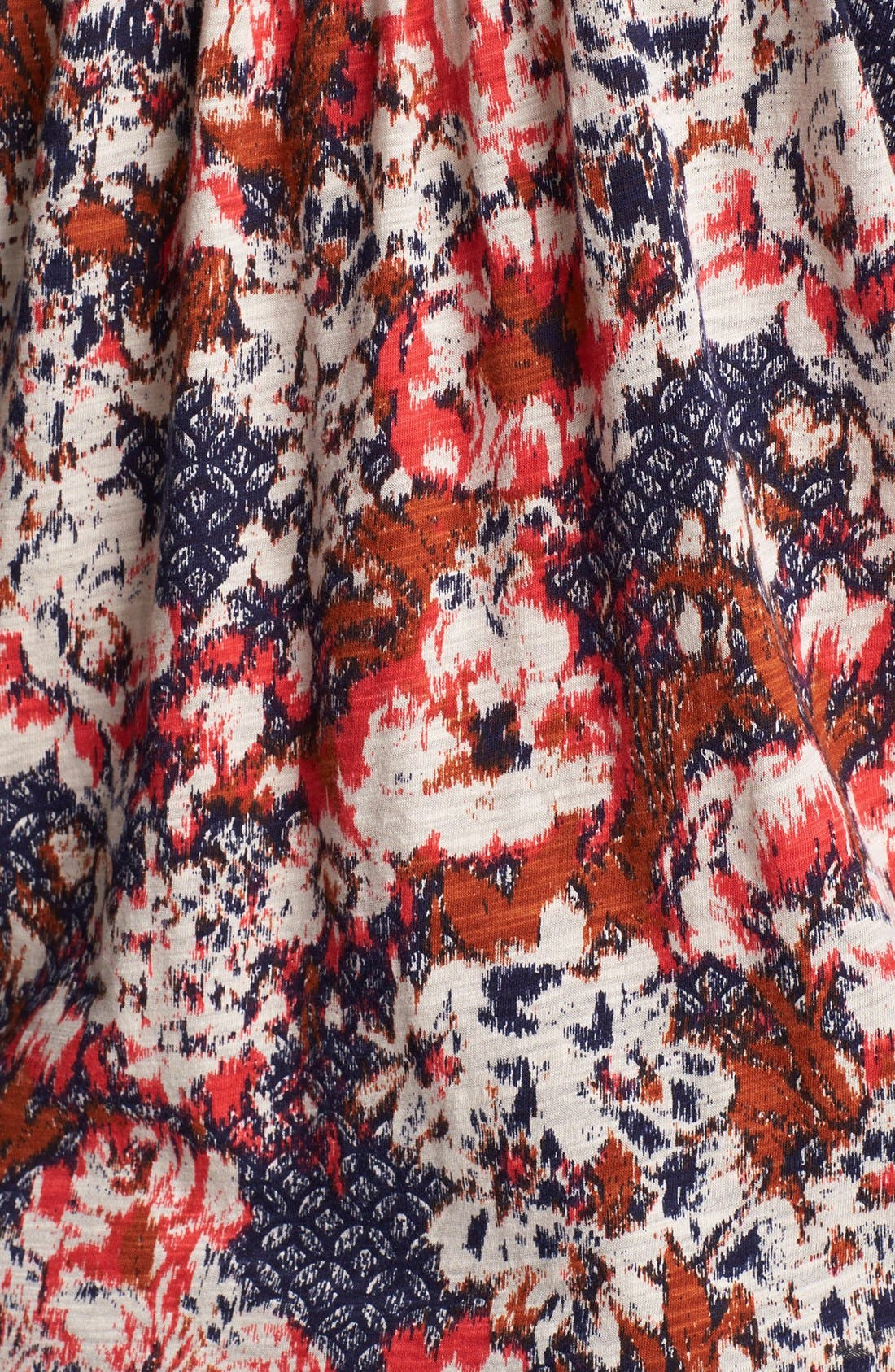 Alternate Image 3  - Lucky Brand 'Cambria' Floral Print Cotton Blend Top (Plus Size)