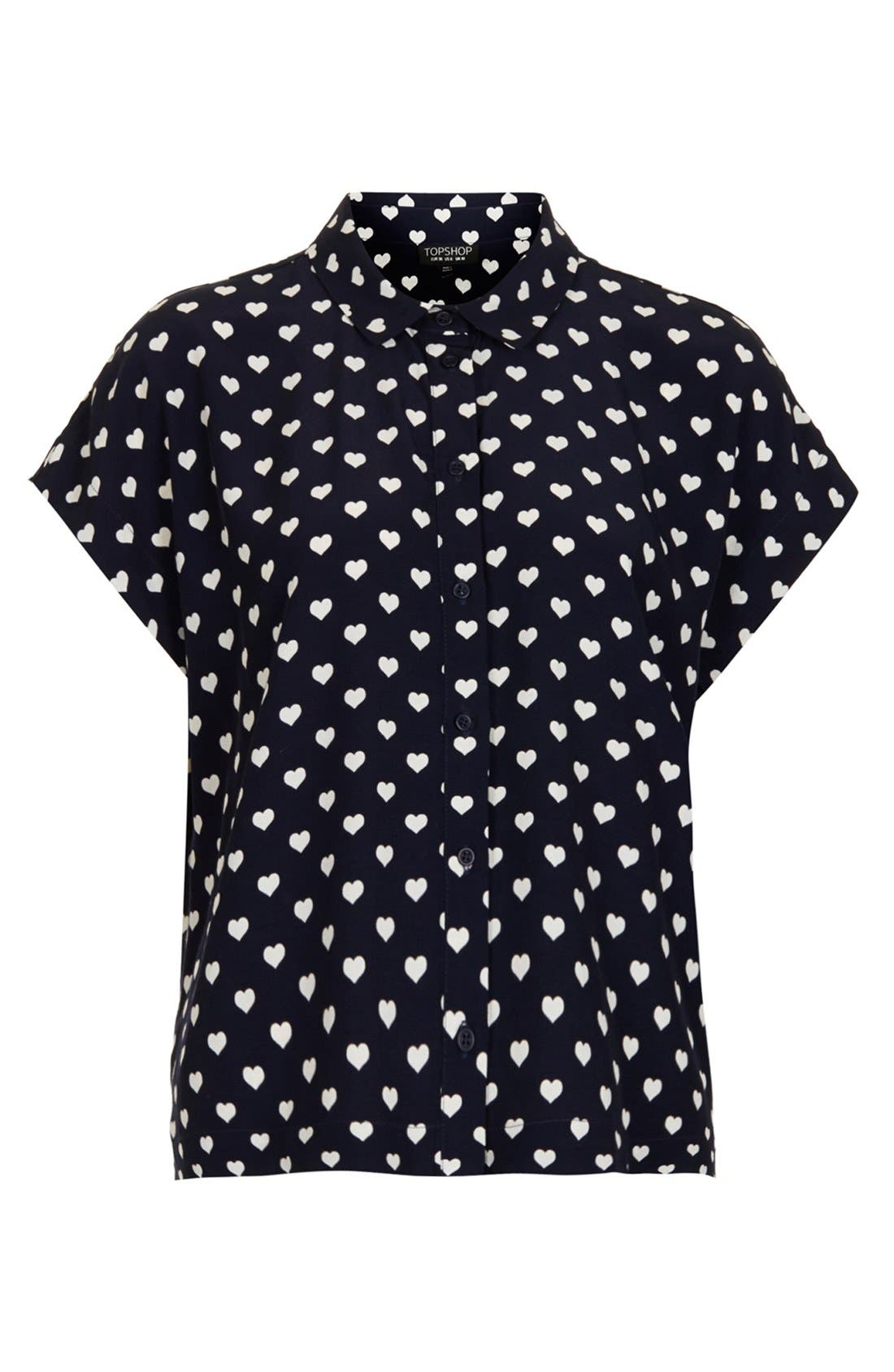Alternate Image 3  - Topshop Heart Print Shirt