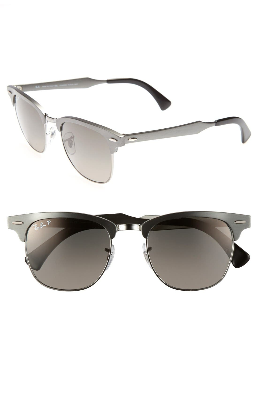Alternate Image 1 Selected - Ray-Ban 'Clubmaster' 51mm Polarized Sunglasses