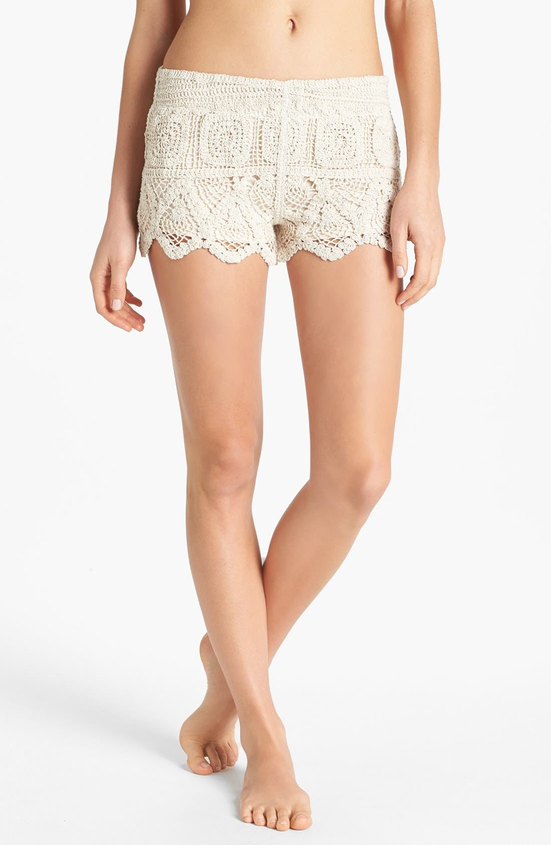Alternate Image 1 Selected - Surf Gypsy Crochet Shorts