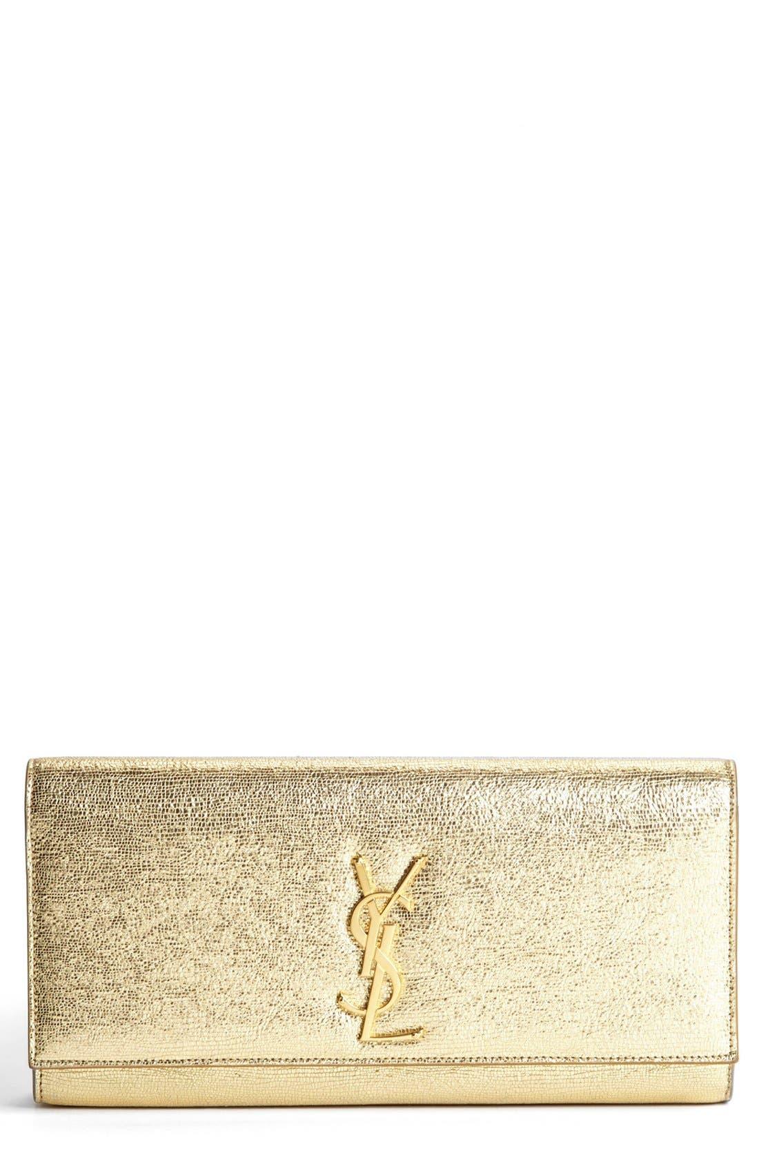 Main Image - Saint Laurent 'Cassandre - Metallique' Clutch