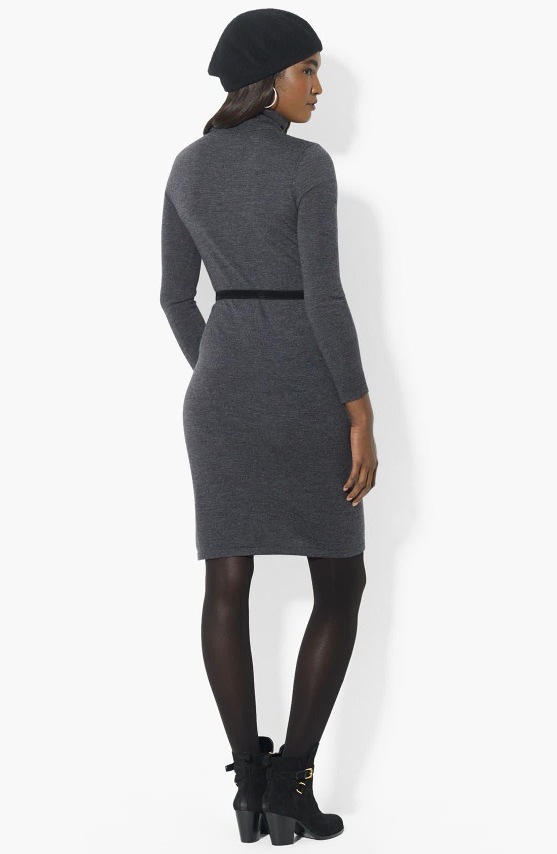 Alternate Image 2  - Lauren Ralph Lauren Turtleneck Sweater Dress