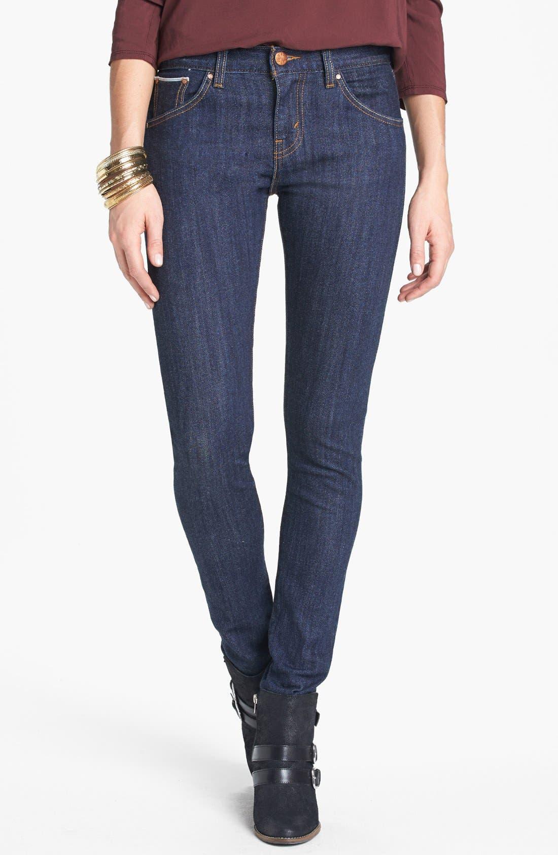 Alternate Image 1 Selected - Levi's® High Waist Resin Rinse Selvedge Skinny Jeans