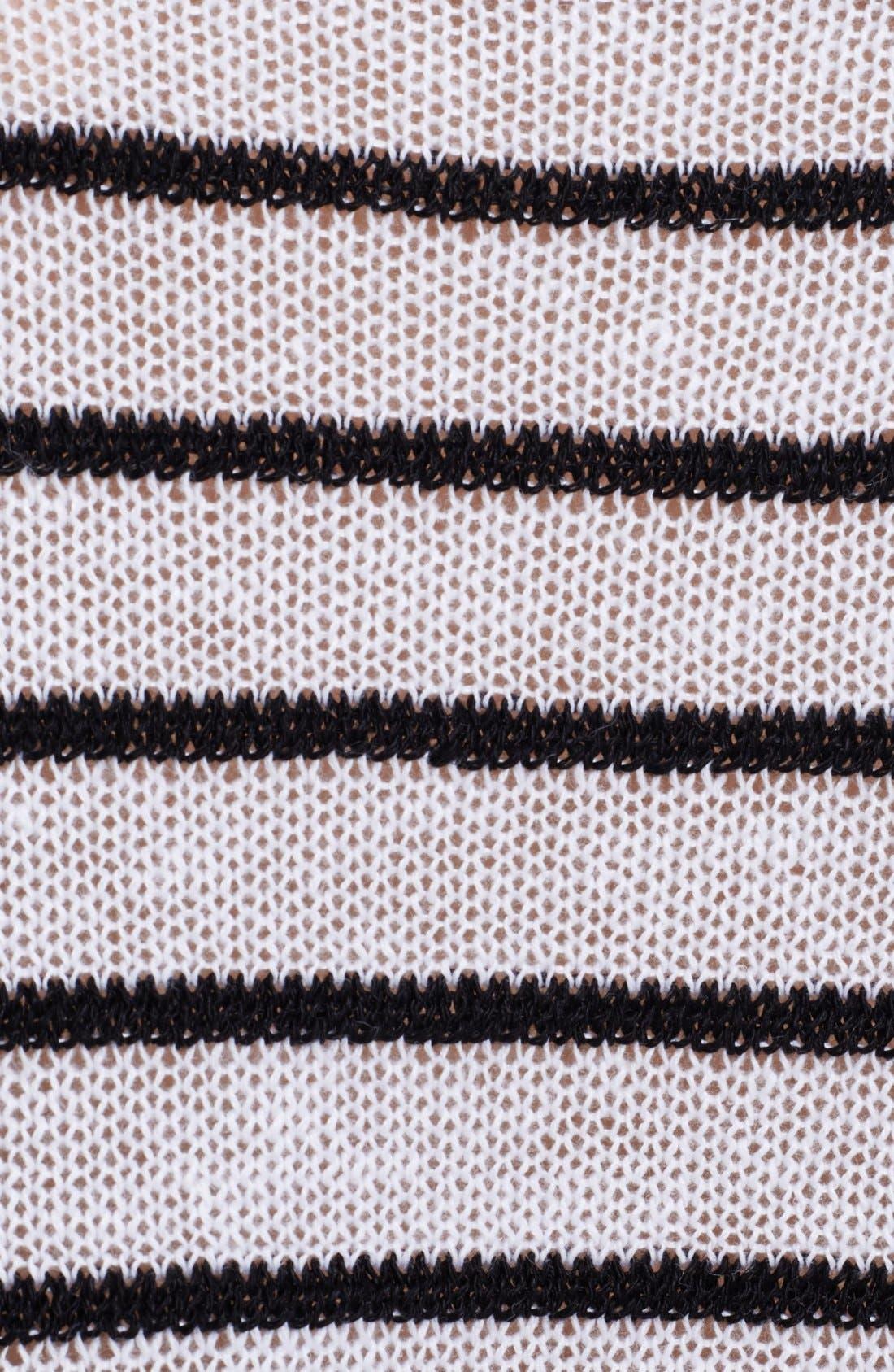Alternate Image 3  - Alice + Olivia Boxy Pinstripe Sweater