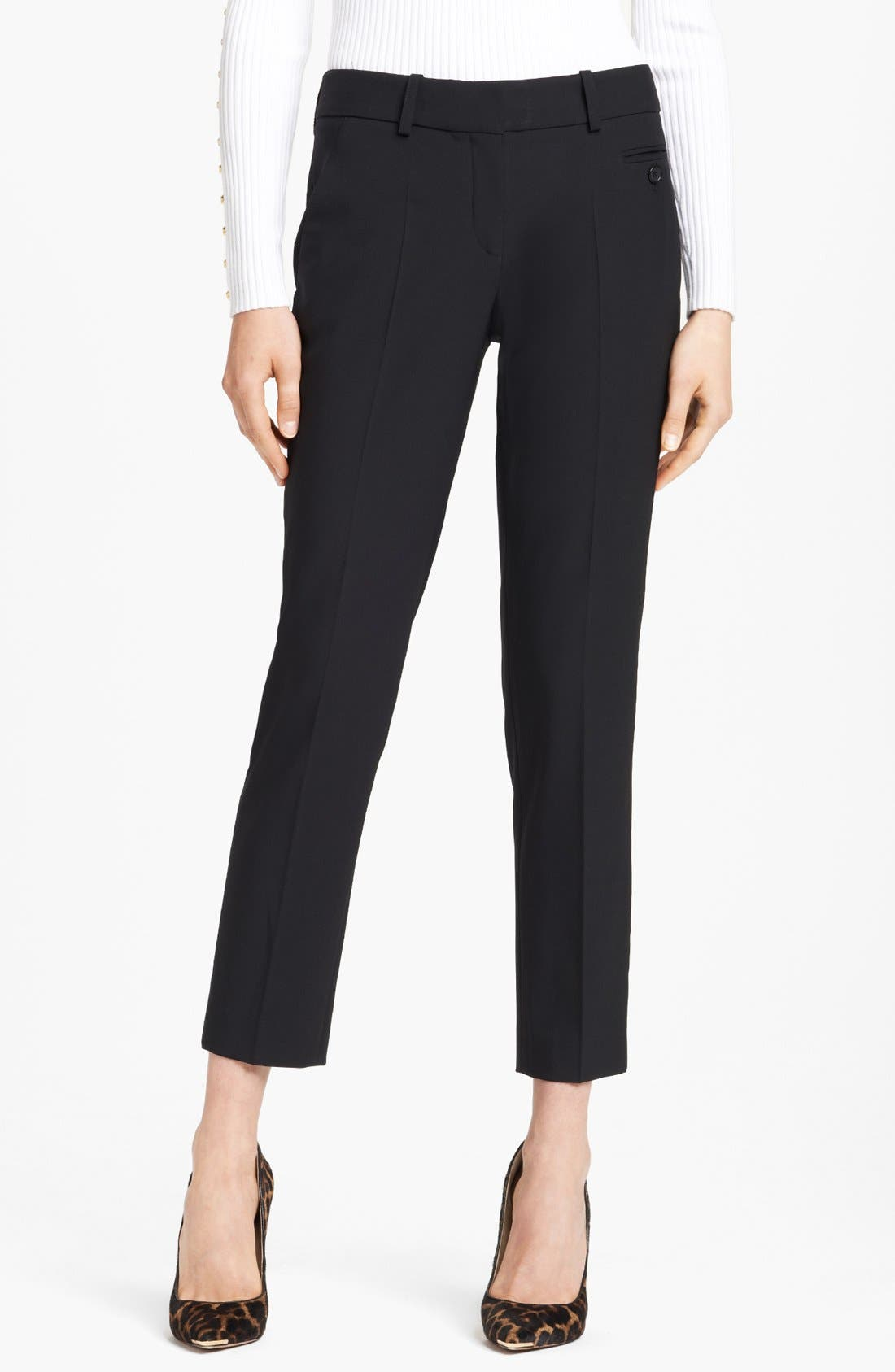 Main Image - Michael Kors 'Samantha' Skinny Stretch Wool Pants