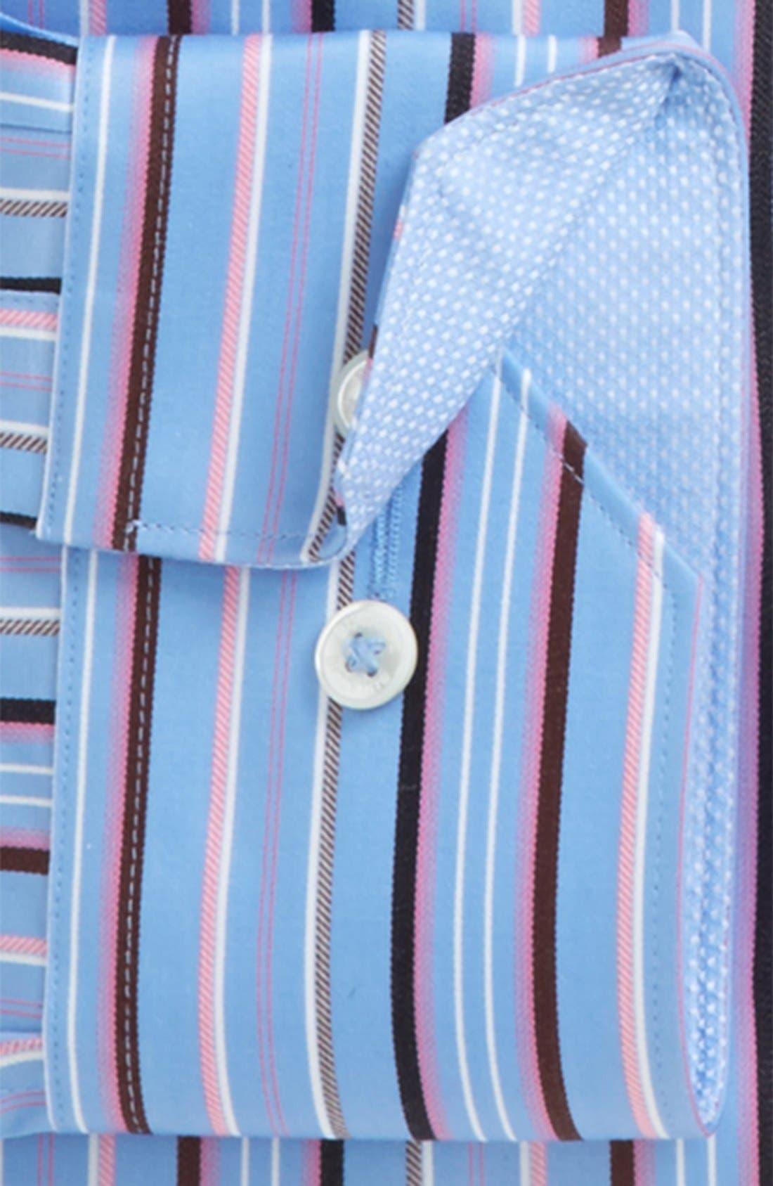 Alternate Image 5  - Bugatchi Classic Fit Stripe Sport Shirt