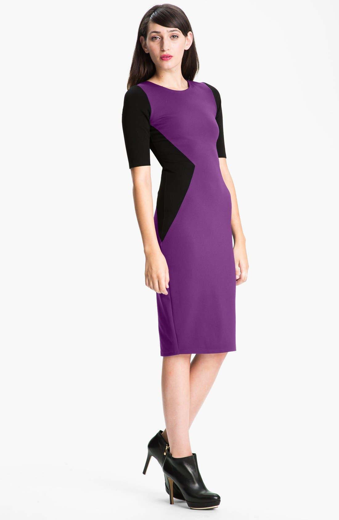 Main Image - Felicity & Coco Contrast Panel Sheath Dress (Nordstrom Exclusive)