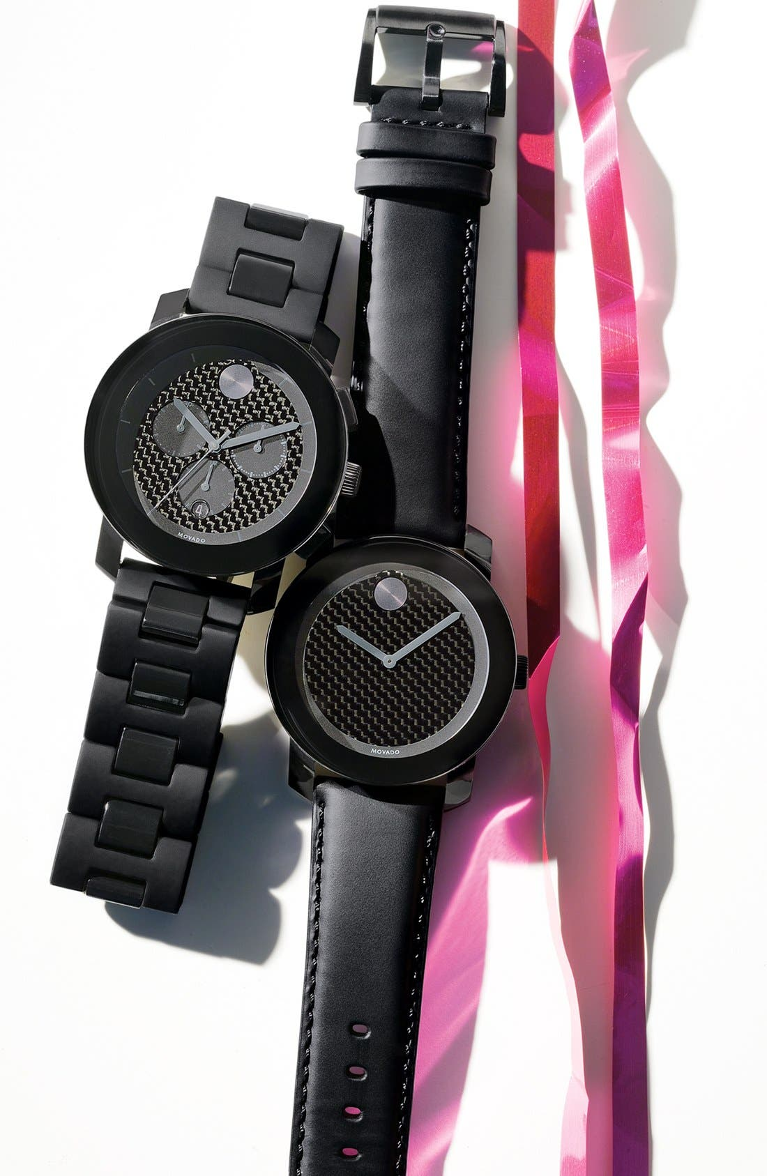 Alternate Image 3  - Movado 'Bold Chrono' Carbon Fiber Dial Watch, 44mm