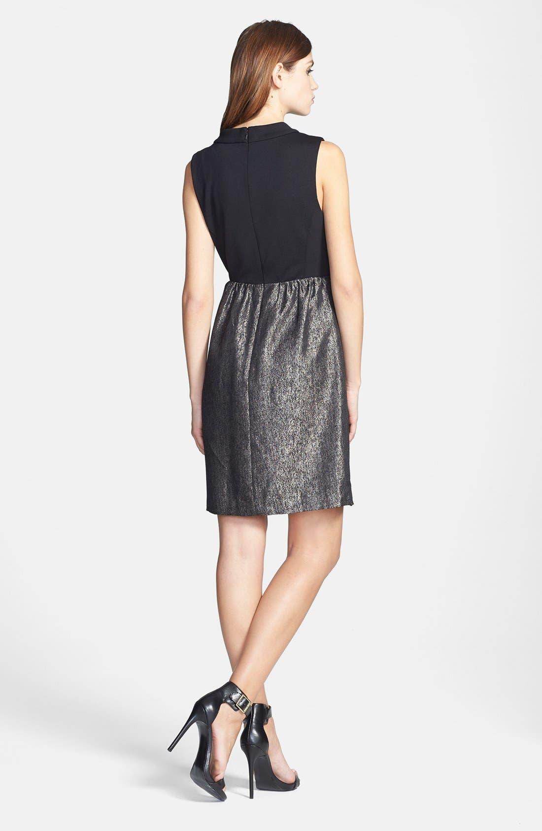 Alternate Image 2  - Halogen® Mixed Media Dress (Regular & Petite)