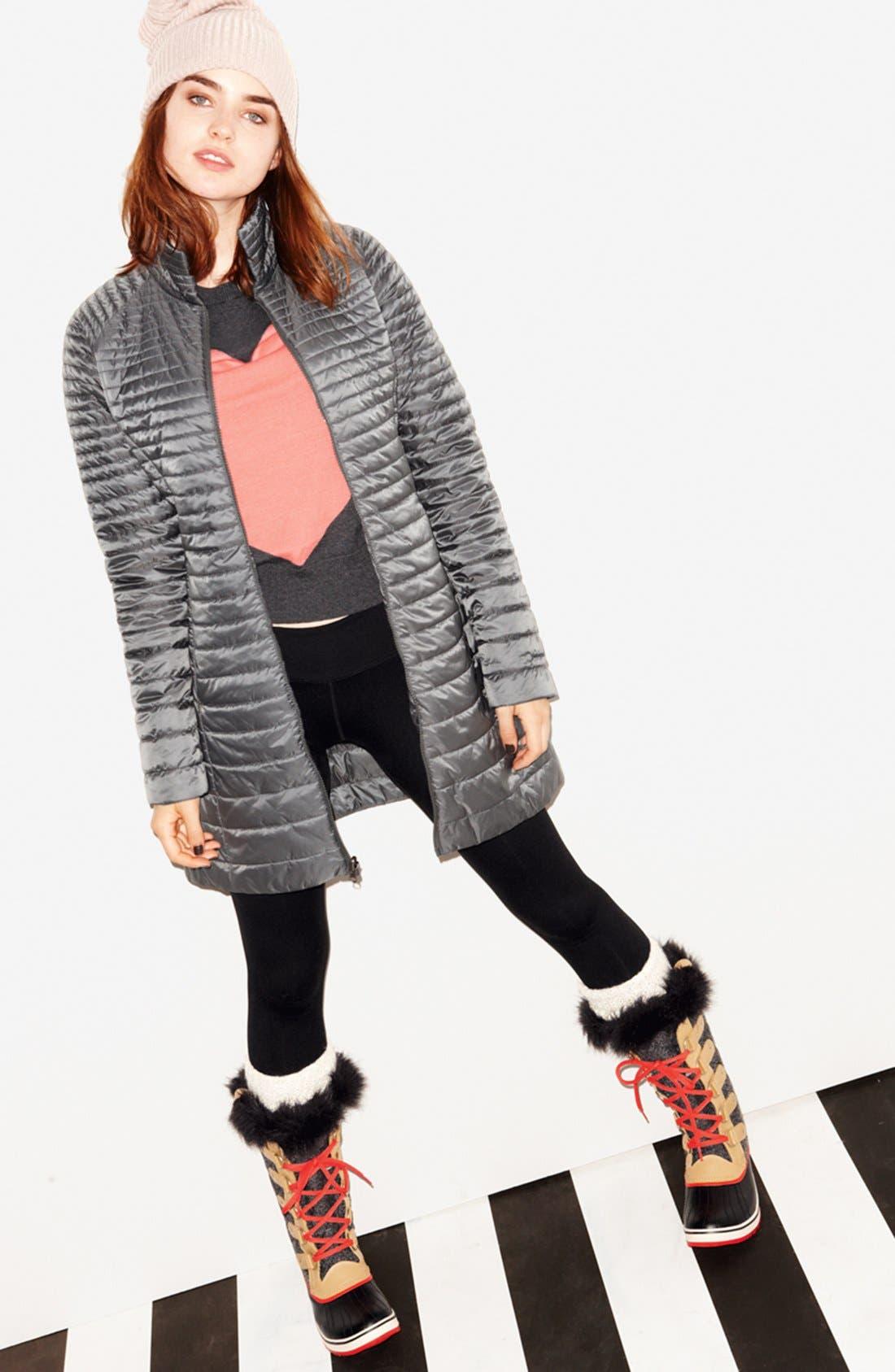 Alternate Image 3  - Patagonia Parka, Zella Leggings & Halogen® Sweater