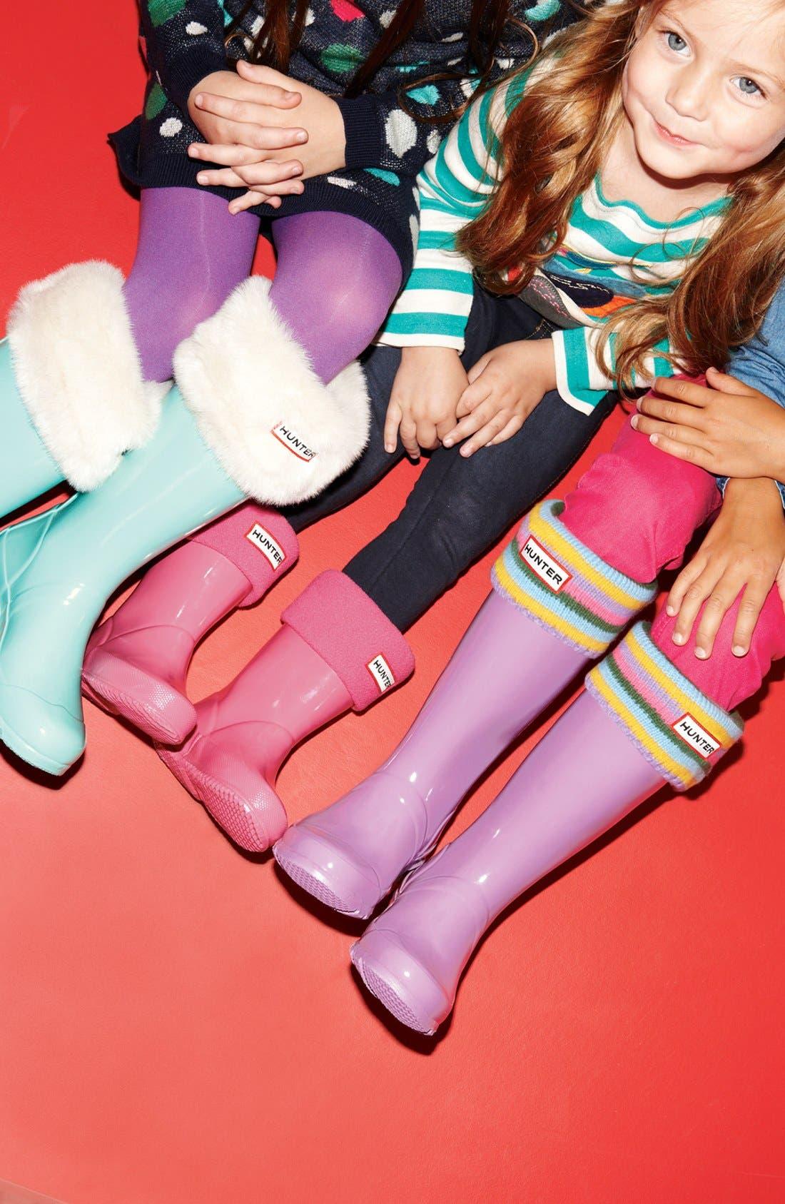 Alternate Image 2  - Hunter Patterned Cuff Welly Socks (Toddler, Little Kid & Big Kid)