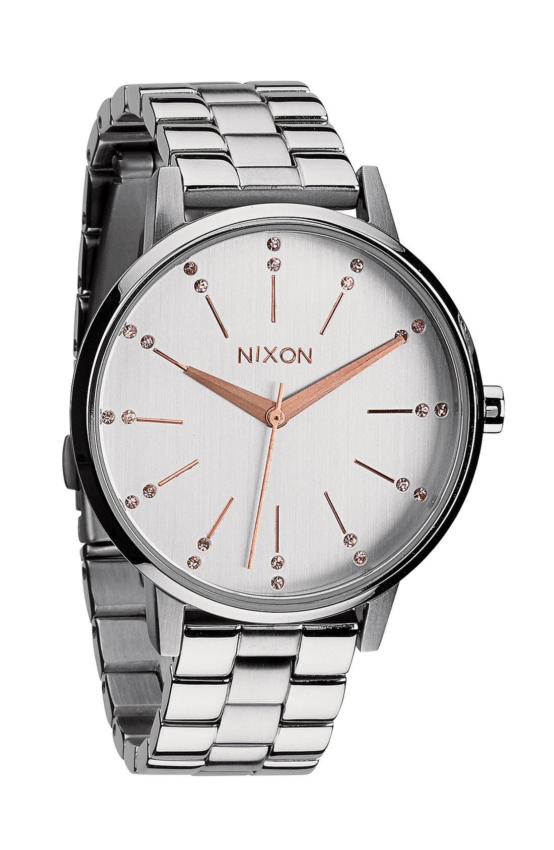 Alternate Image 1 Selected - Nixon 'Kensington' Crystal Bracelet Watch, 37mm