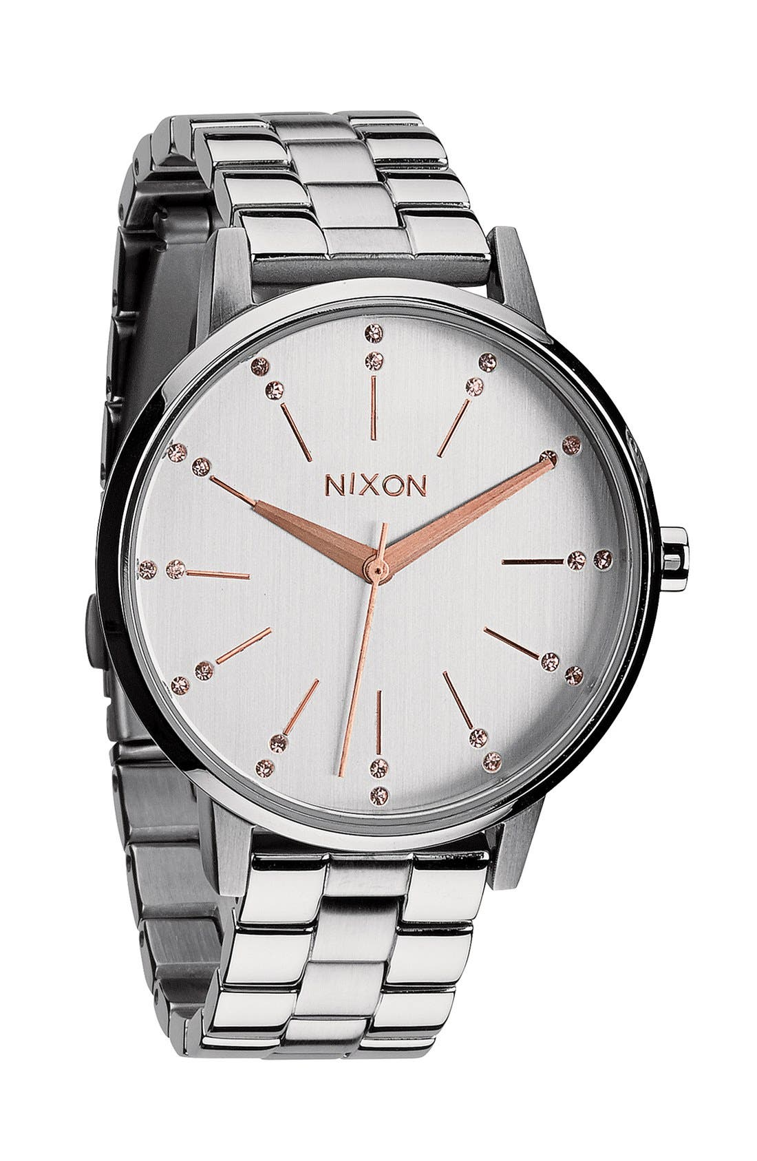 Main Image - Nixon 'Kensington' Crystal Bracelet Watch, 37mm