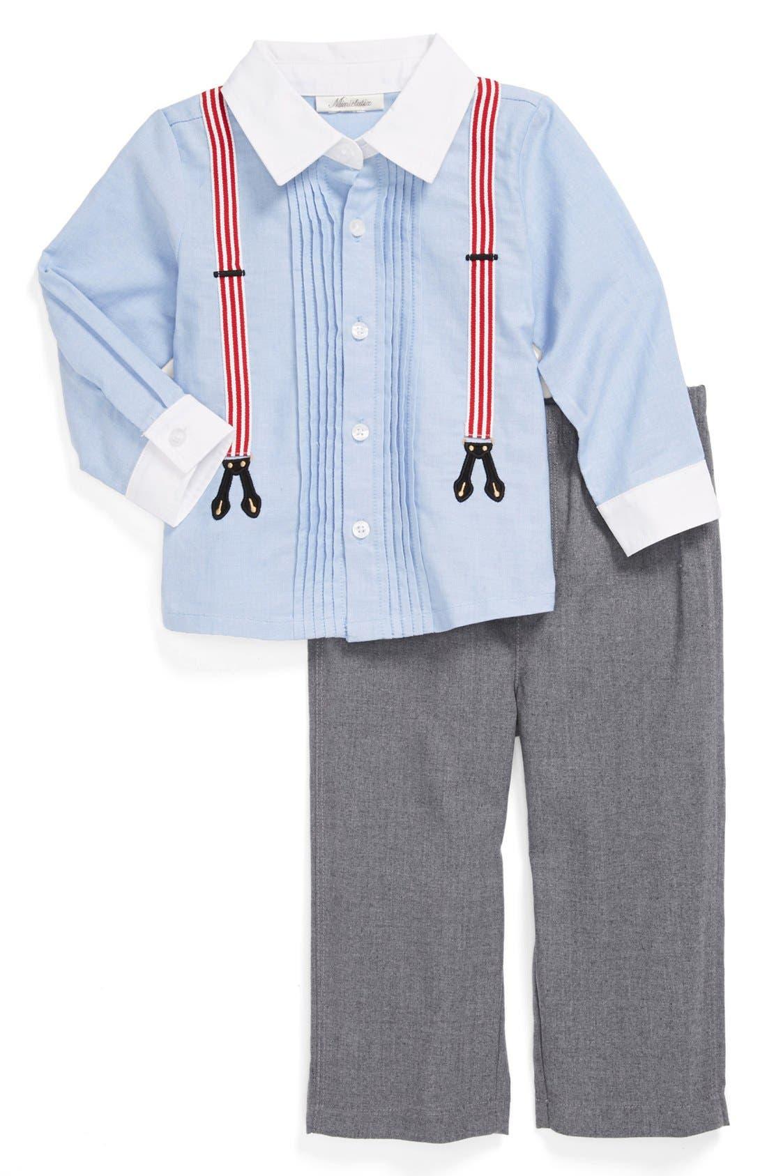 Alternate Image 1 Selected - Miniclasix Shirt & Pants (Baby Boys)