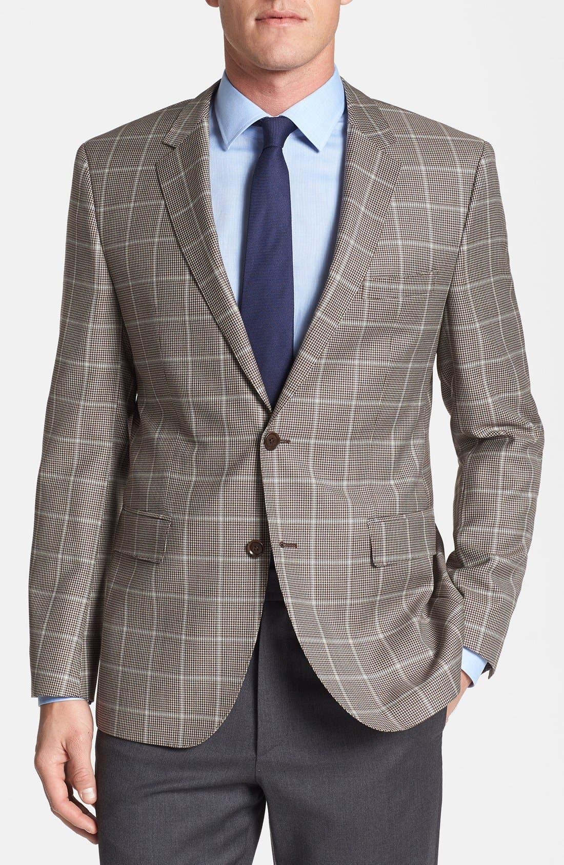 Main Image - BOSS HUGO BOSS 'The Smith' Trim Fit Plaid Sportcoat