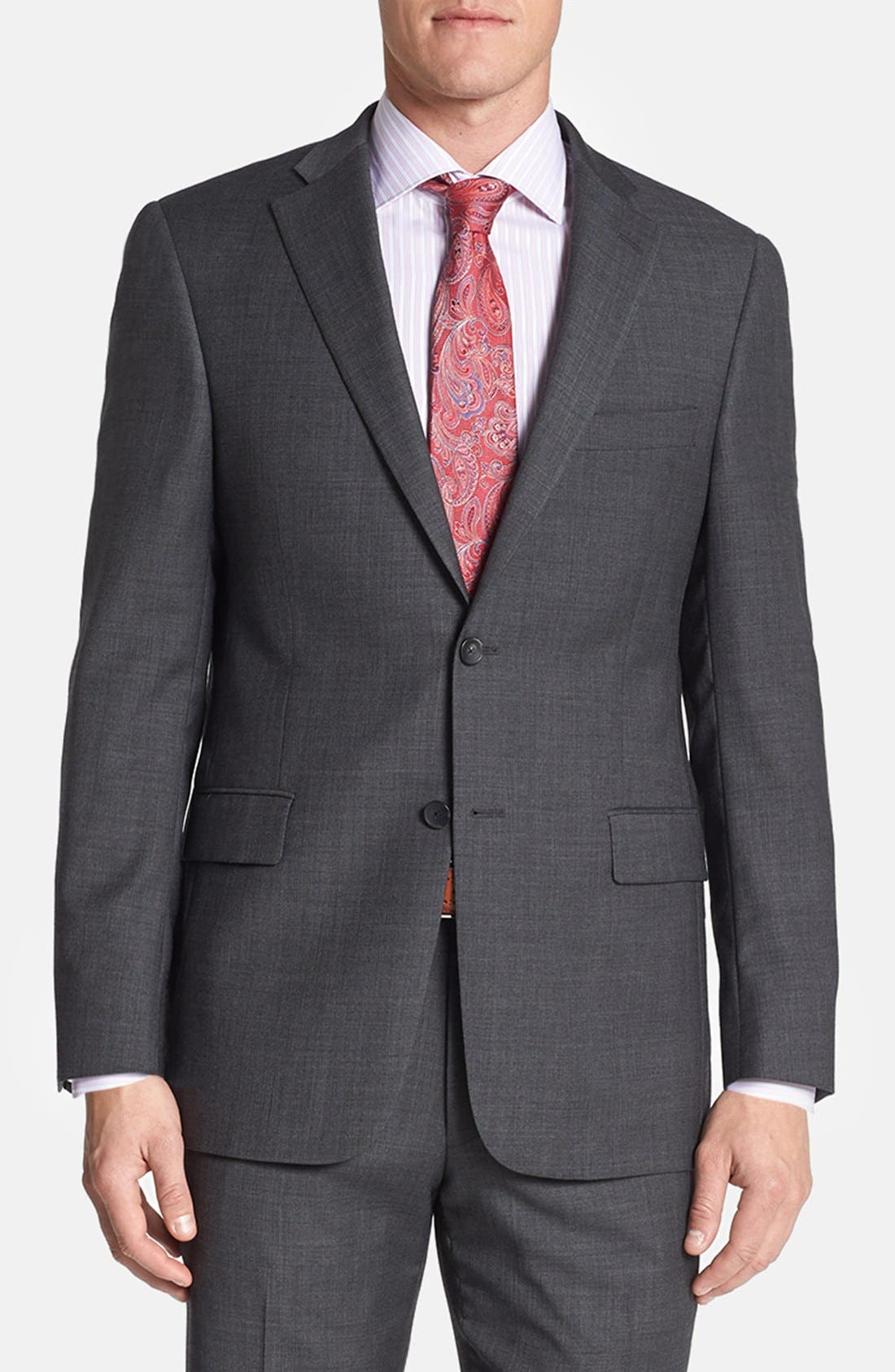 Alternate Image 4  - Hart Schaffner Marx 'New York' Classic Fit Wool Suit