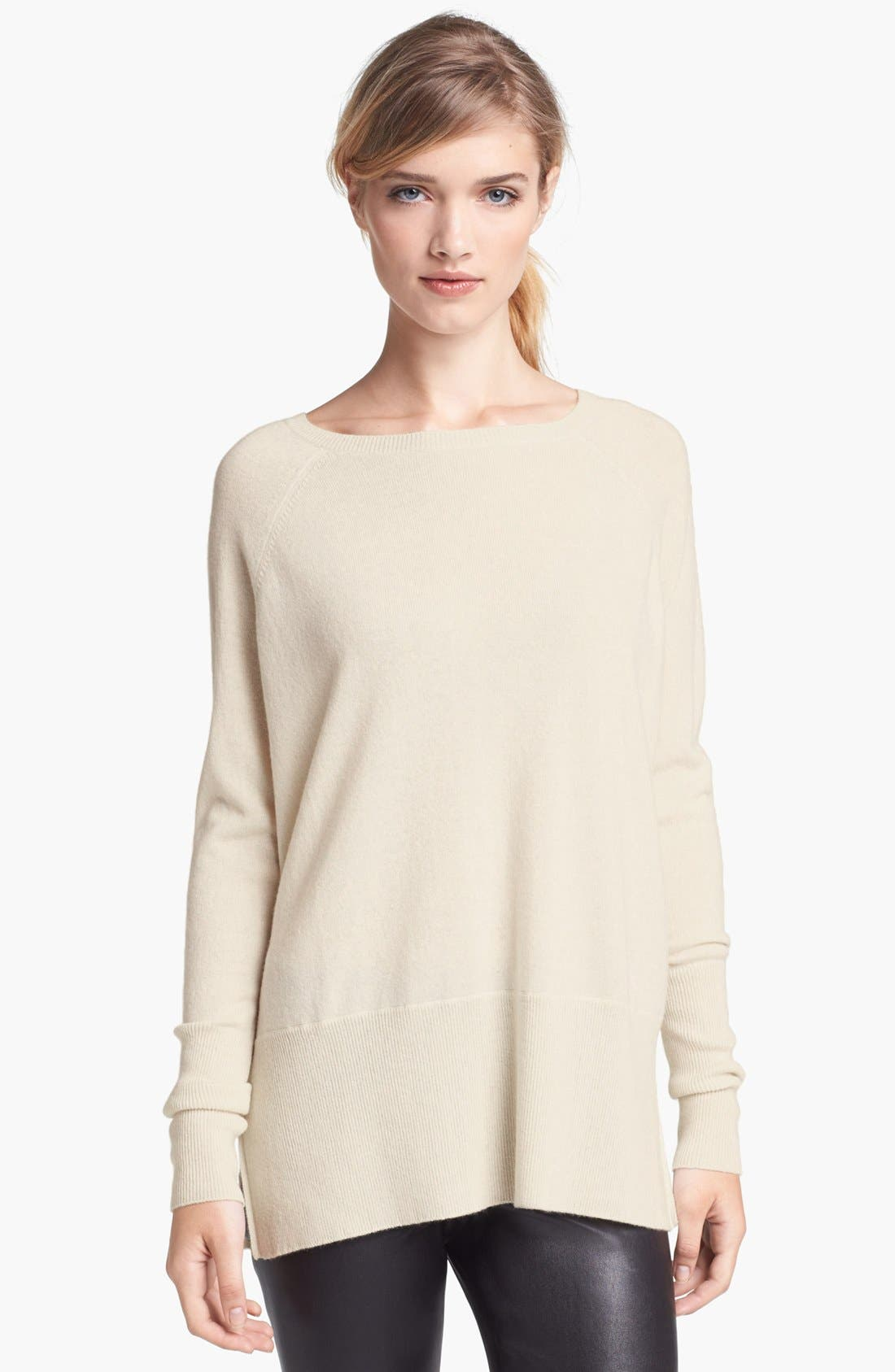Alternate Image 1 Selected - Vince 'Square' Raglan Cashmere Sweater