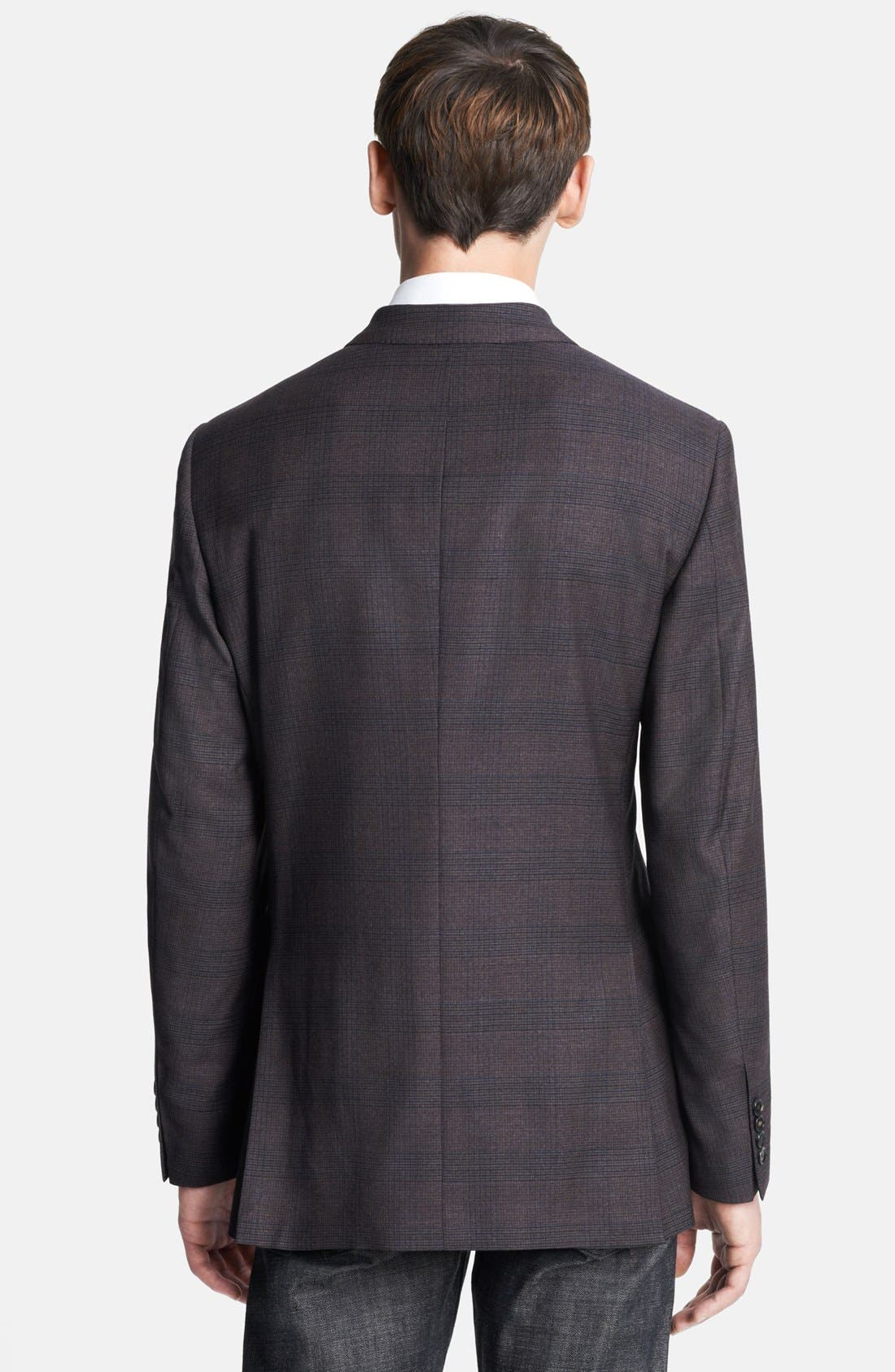 Alternate Image 3  - Burberry London Plaid Wool Sportcoat