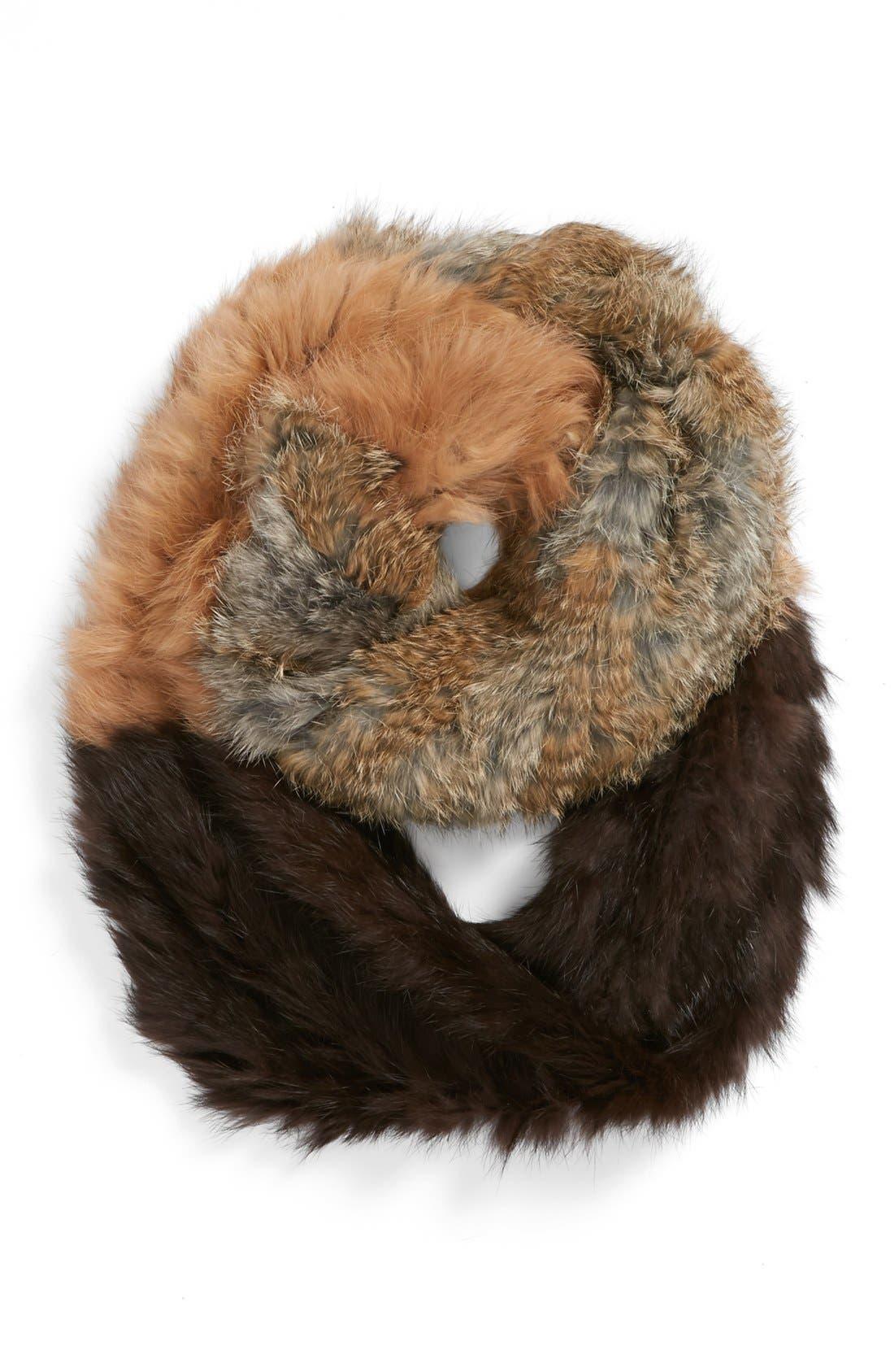 Main Image - La Fiorentina Genuine Rabbit Fur Infinity Scarf