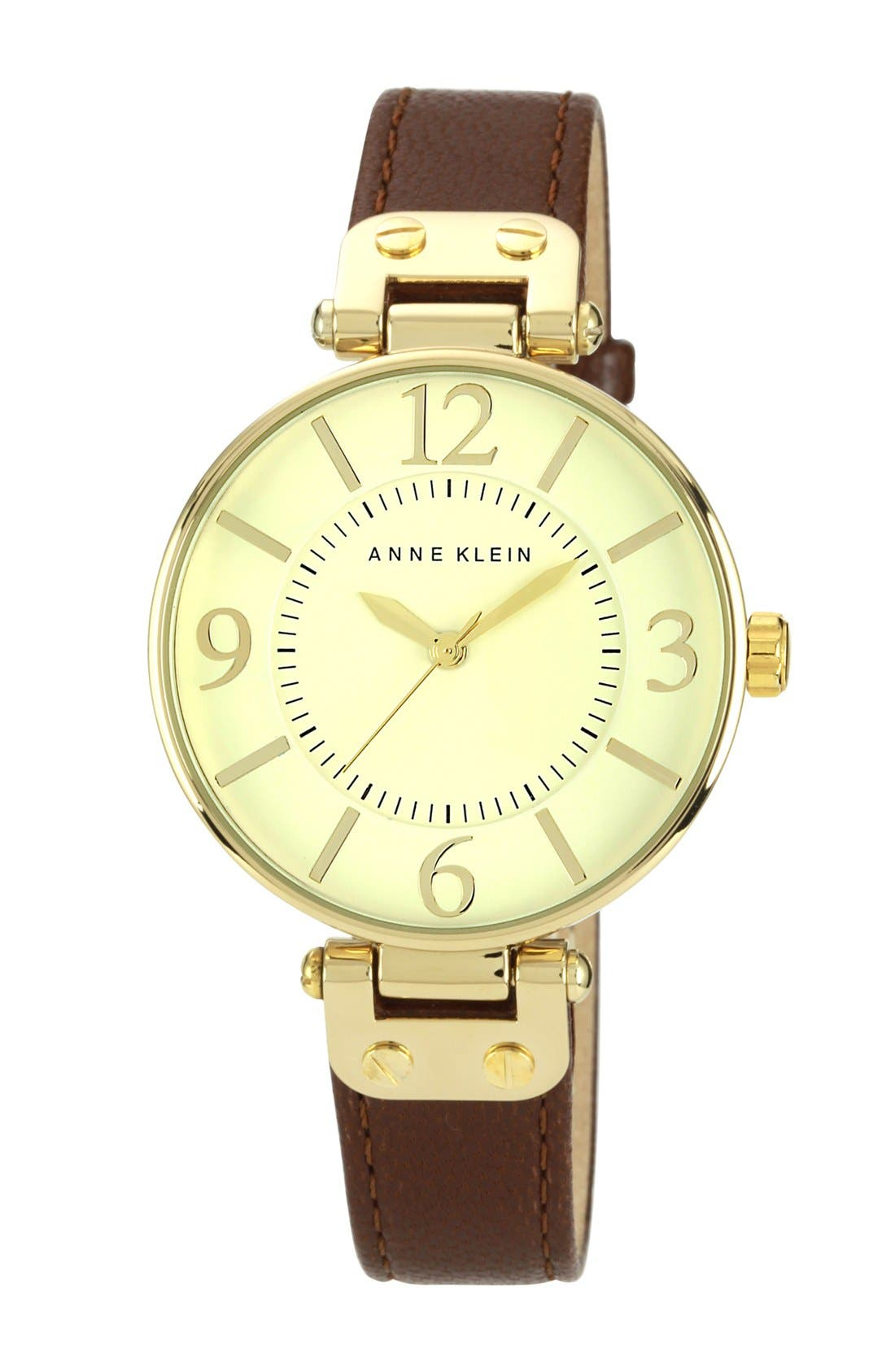 Alternate Image 1 Selected - Anne Klein Hinge Case Watch, 32mm