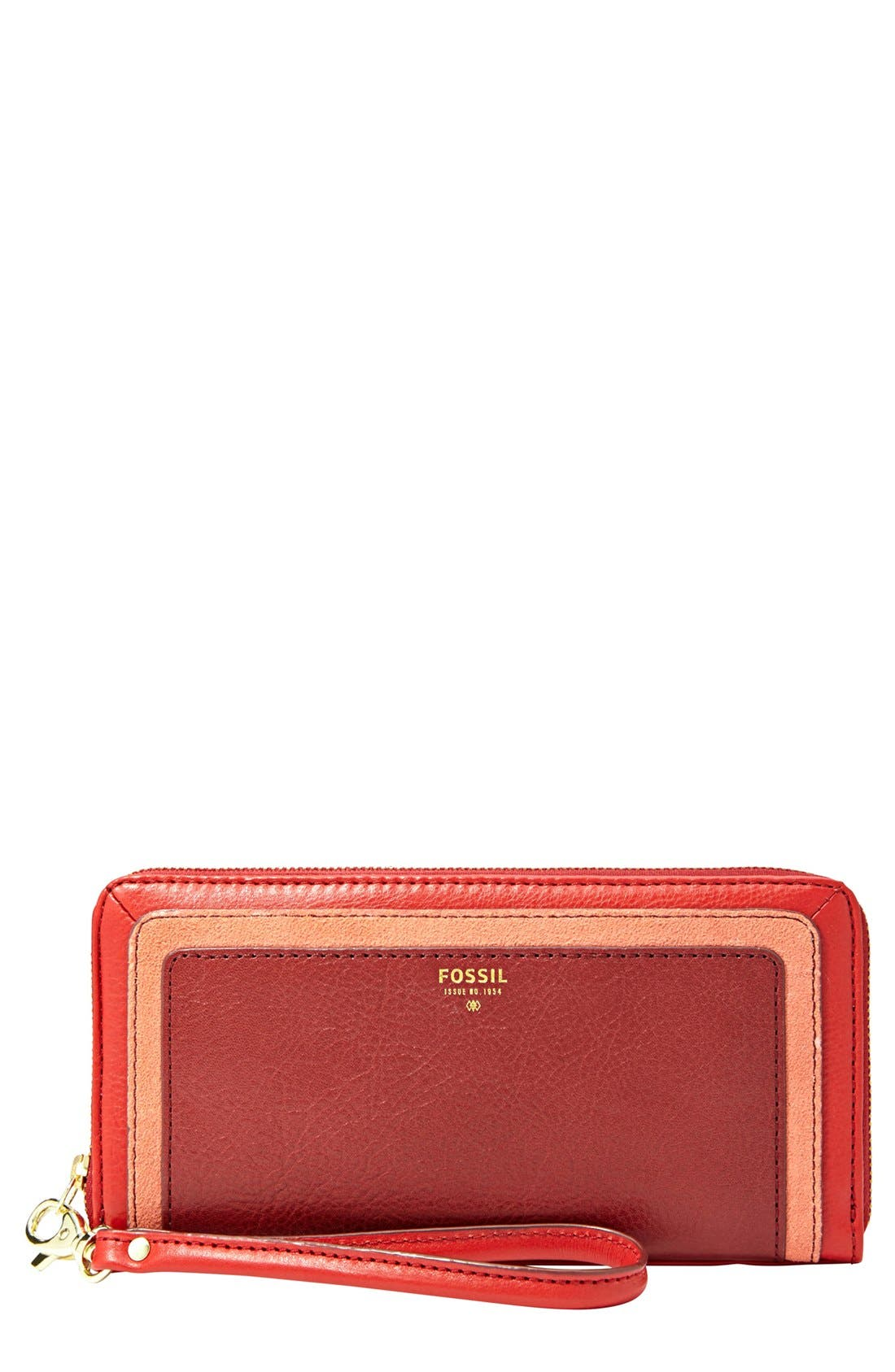 Main Image - Fossil 'Sydney' Colorblock Clutch Wallet
